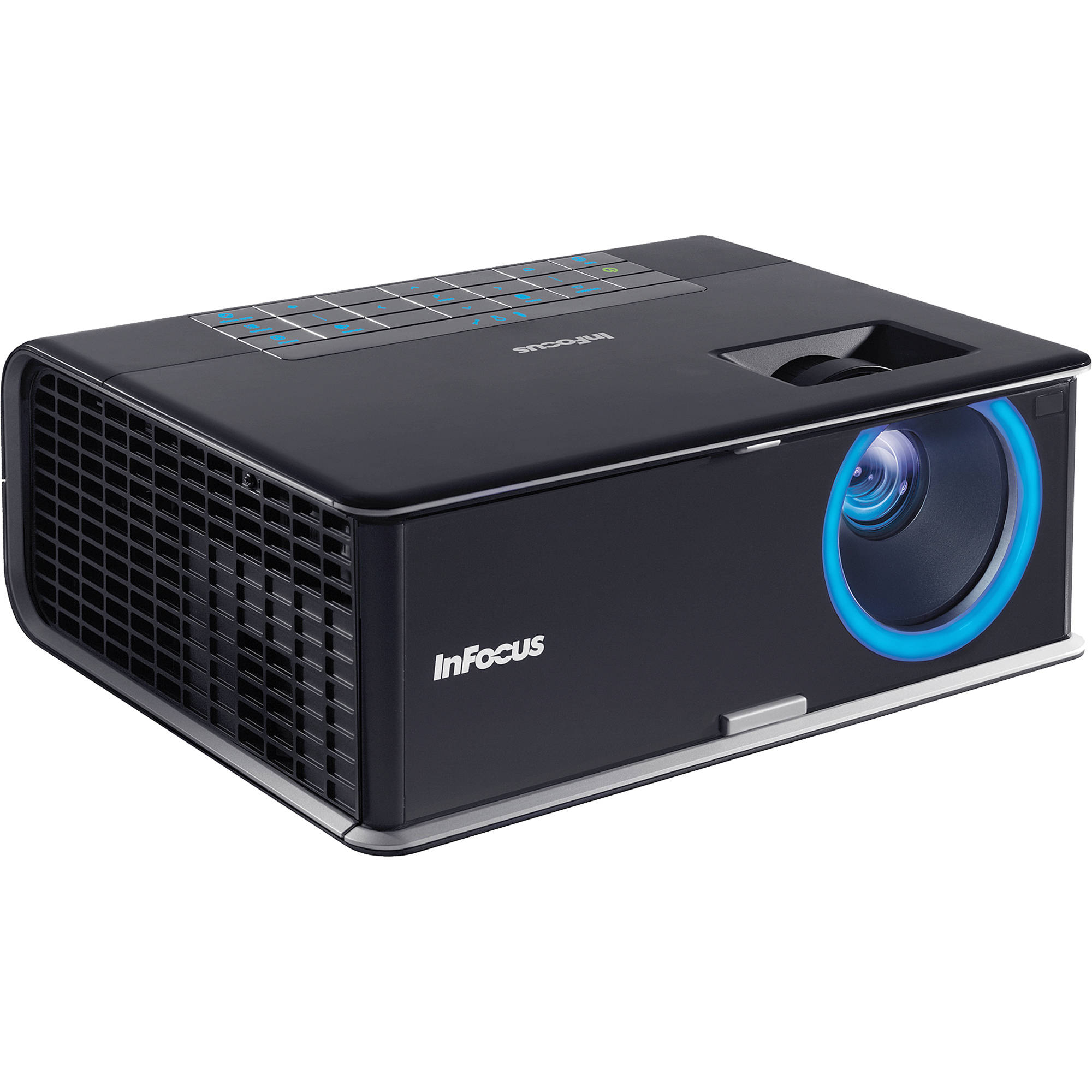 Infocus in3116 portable widescreen dlp projector in3116 b h for Dlp portable projector