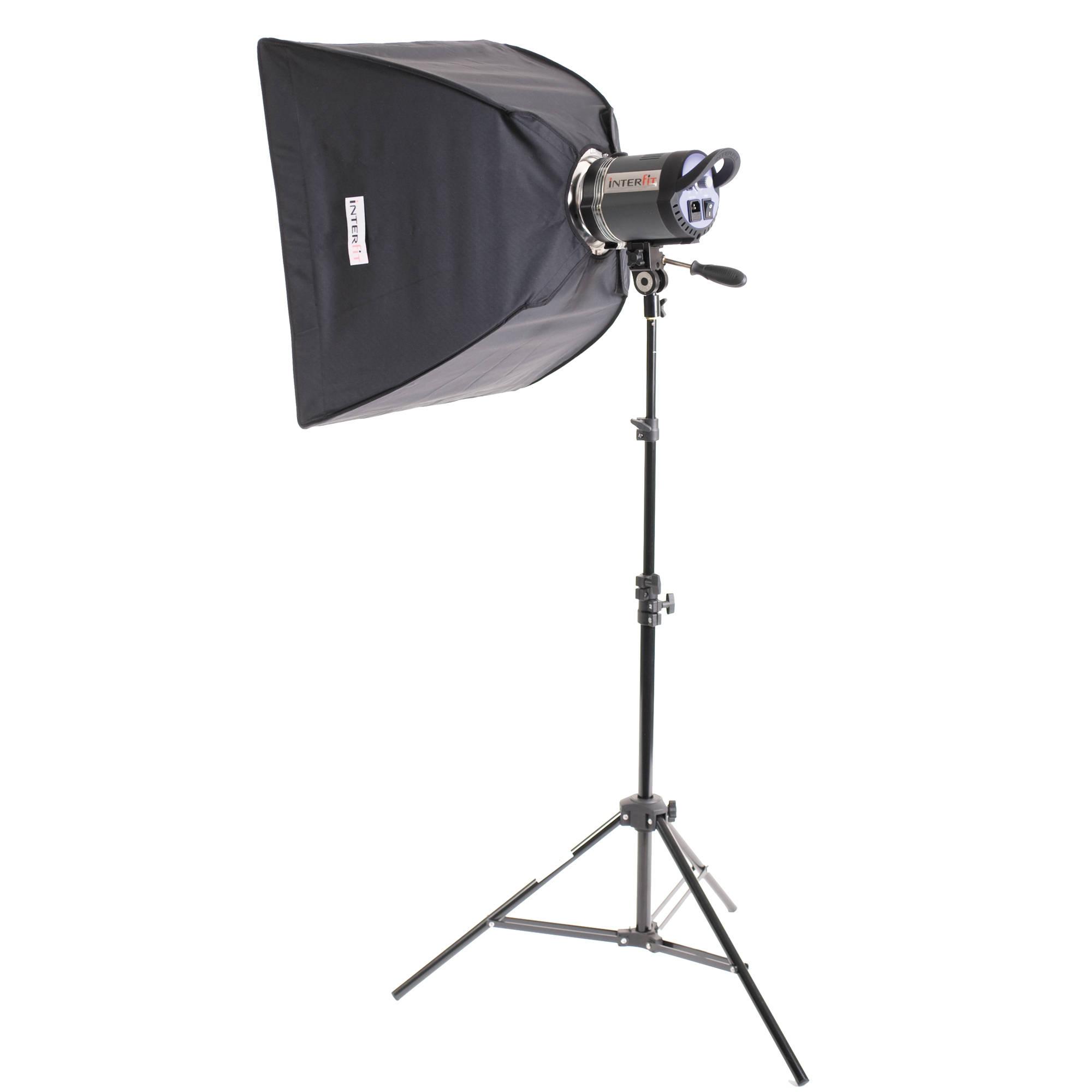 Interfit Stellar Tungsten One-Light Softbox Kit INT185U B&H