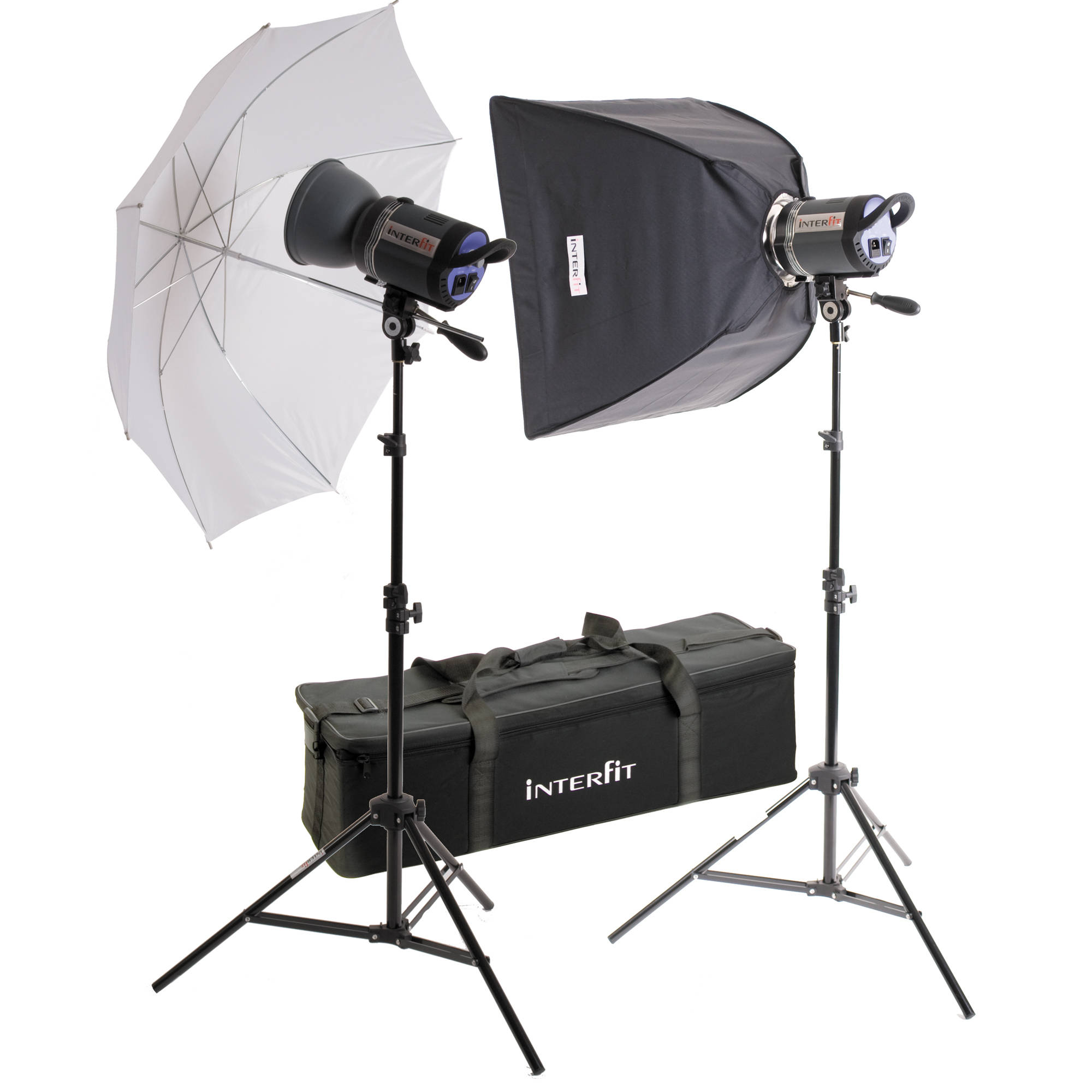 Interfit Stellar Tungsten Two-Light Umbrella-Softbox Kit