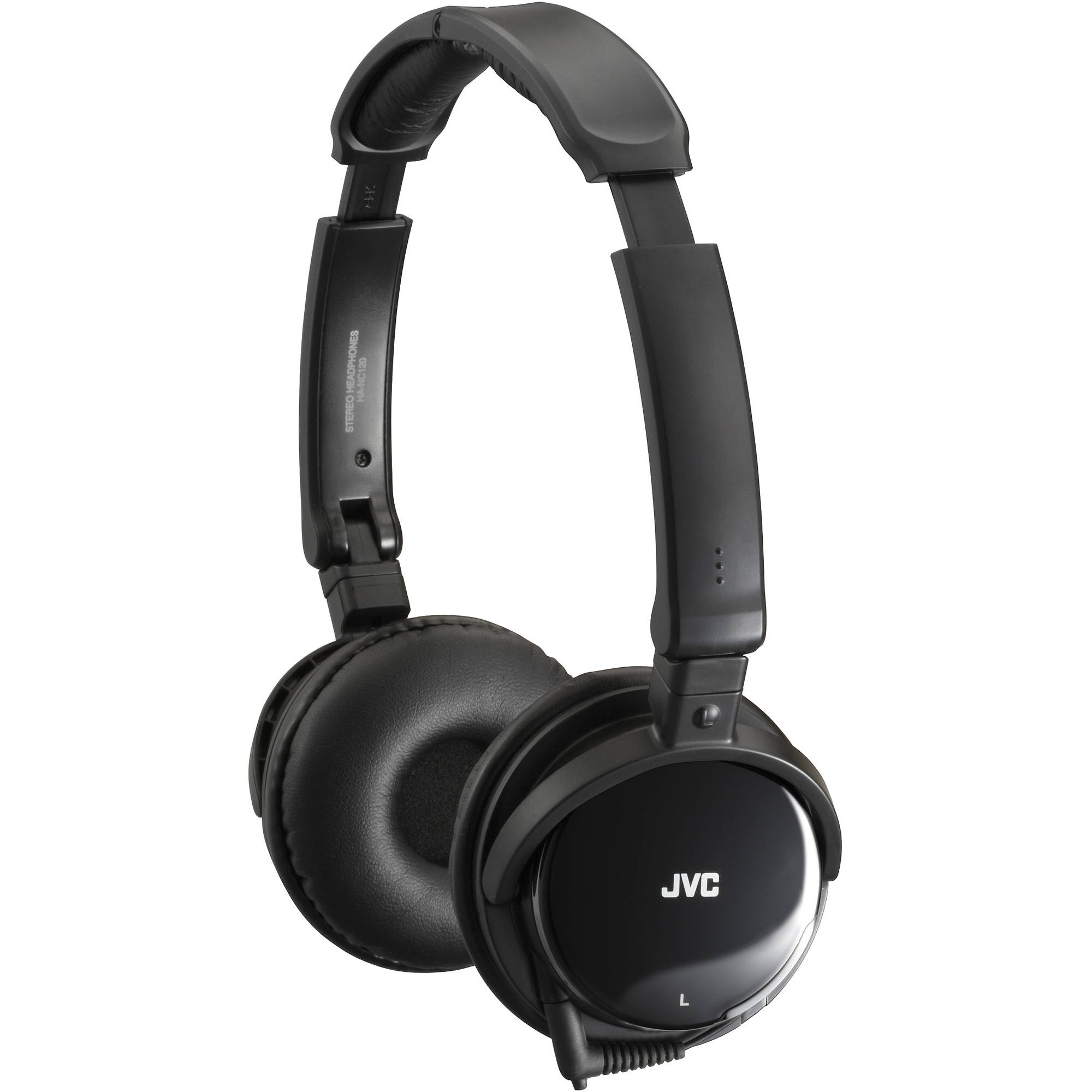 JVC HA-NC120 On-Ear Noise Canceling Headphones HANC120 B\u0026H Photo