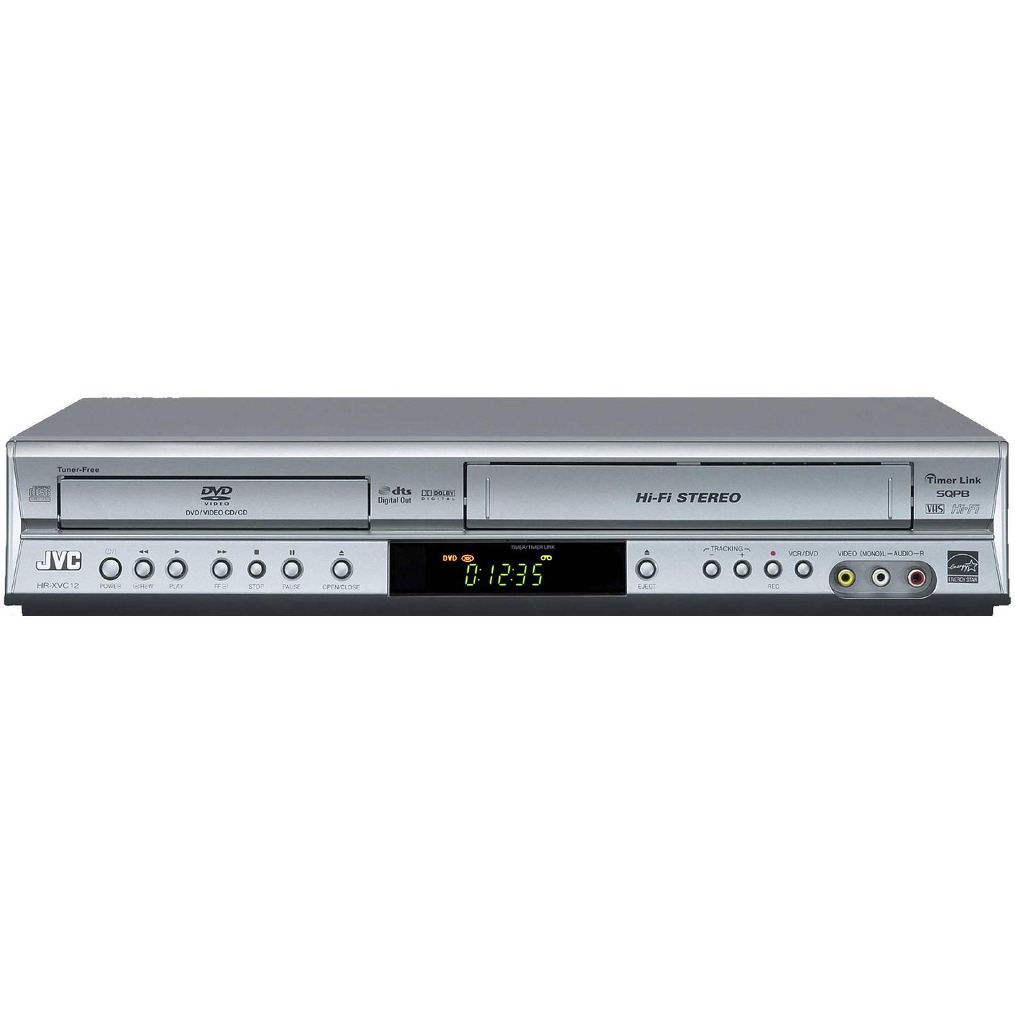 jvc hr xvc12s dvd vcr combo player silver hr xvc12s b h photo rh bhphotovideo com JVC DVD VCR Combo Player JVC DVD VCR Combo Troubleshooting
