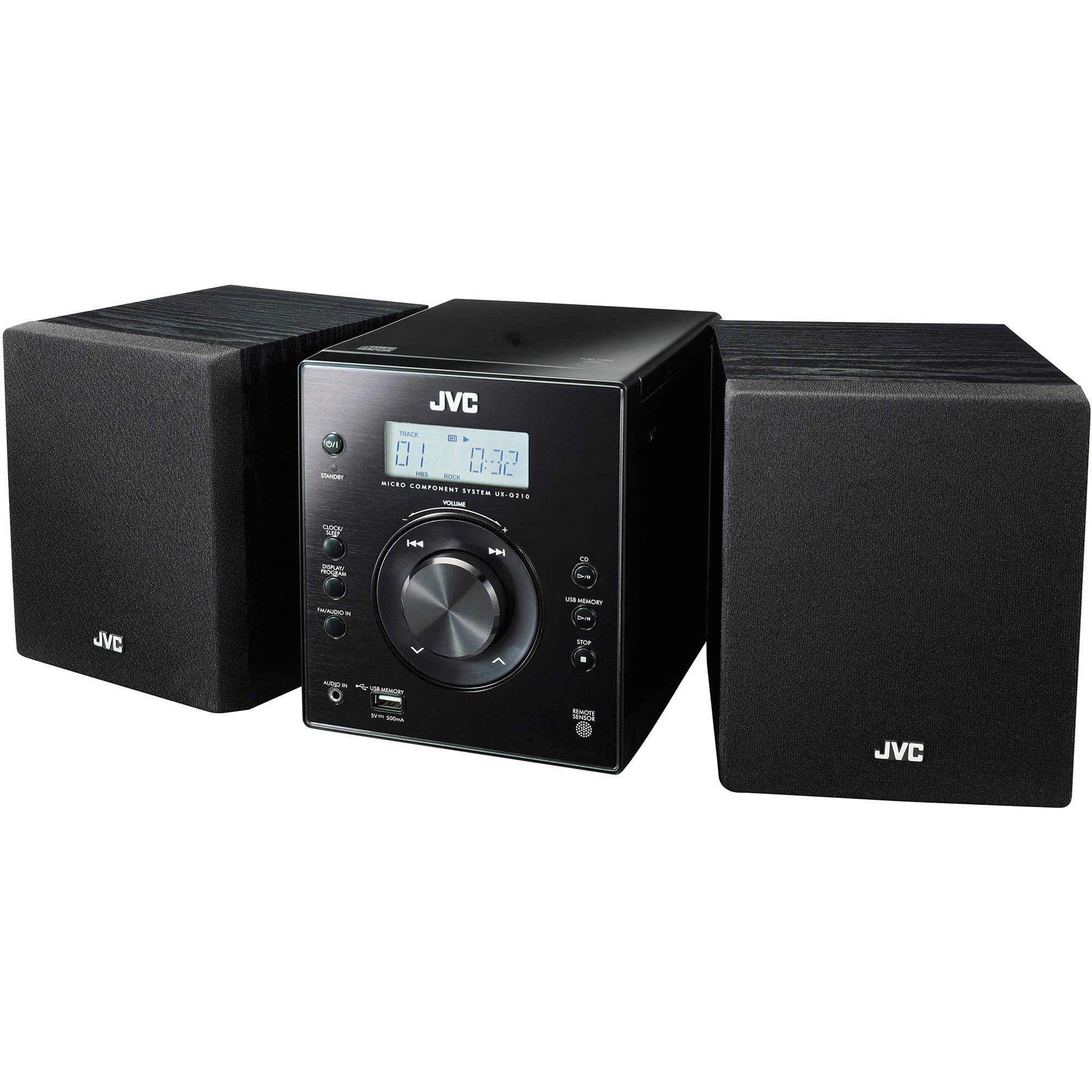 jvc ux g210 cd usb fm radio micro component system uxg210 b h. Black Bedroom Furniture Sets. Home Design Ideas