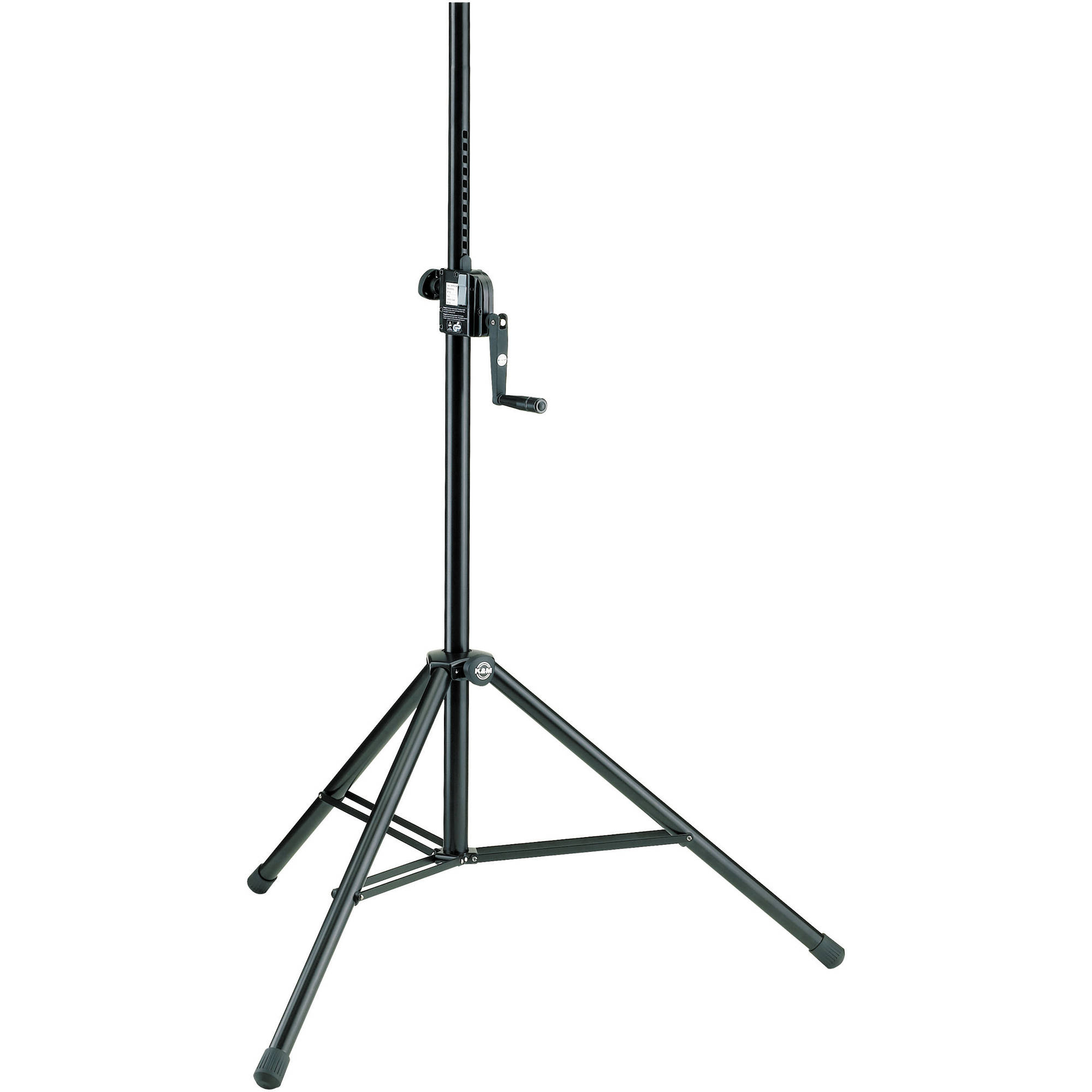 K Amp M 213 Hand Crank Speaker Stand Black 21300 009 55 B Amp H