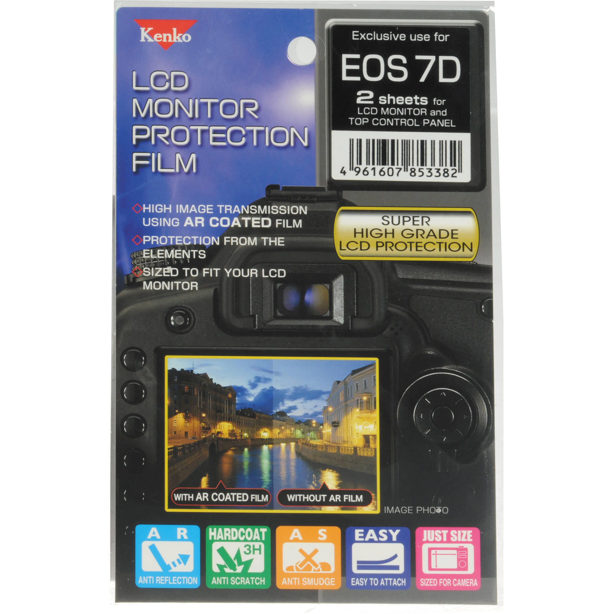 Kenko LCD Monitor Protection Film for the Canon EOS 7D Camera