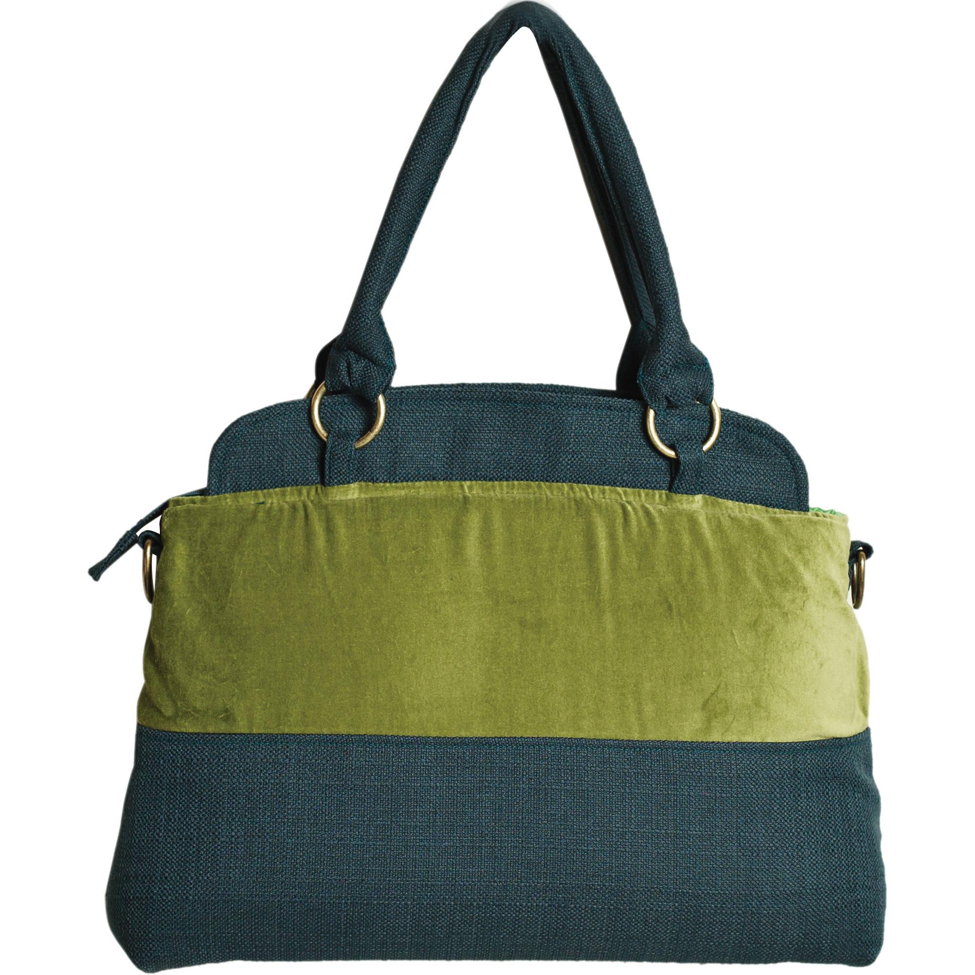 Ketti Handbags Army Navy Camera Bag Olive Green Blue