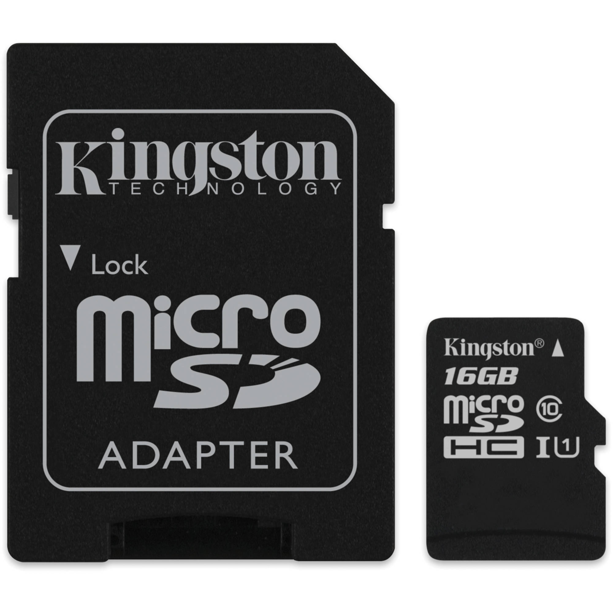 kingston 16gb microsdhc memory card class 10 with sd sdc10 16gb. Black Bedroom Furniture Sets. Home Design Ideas