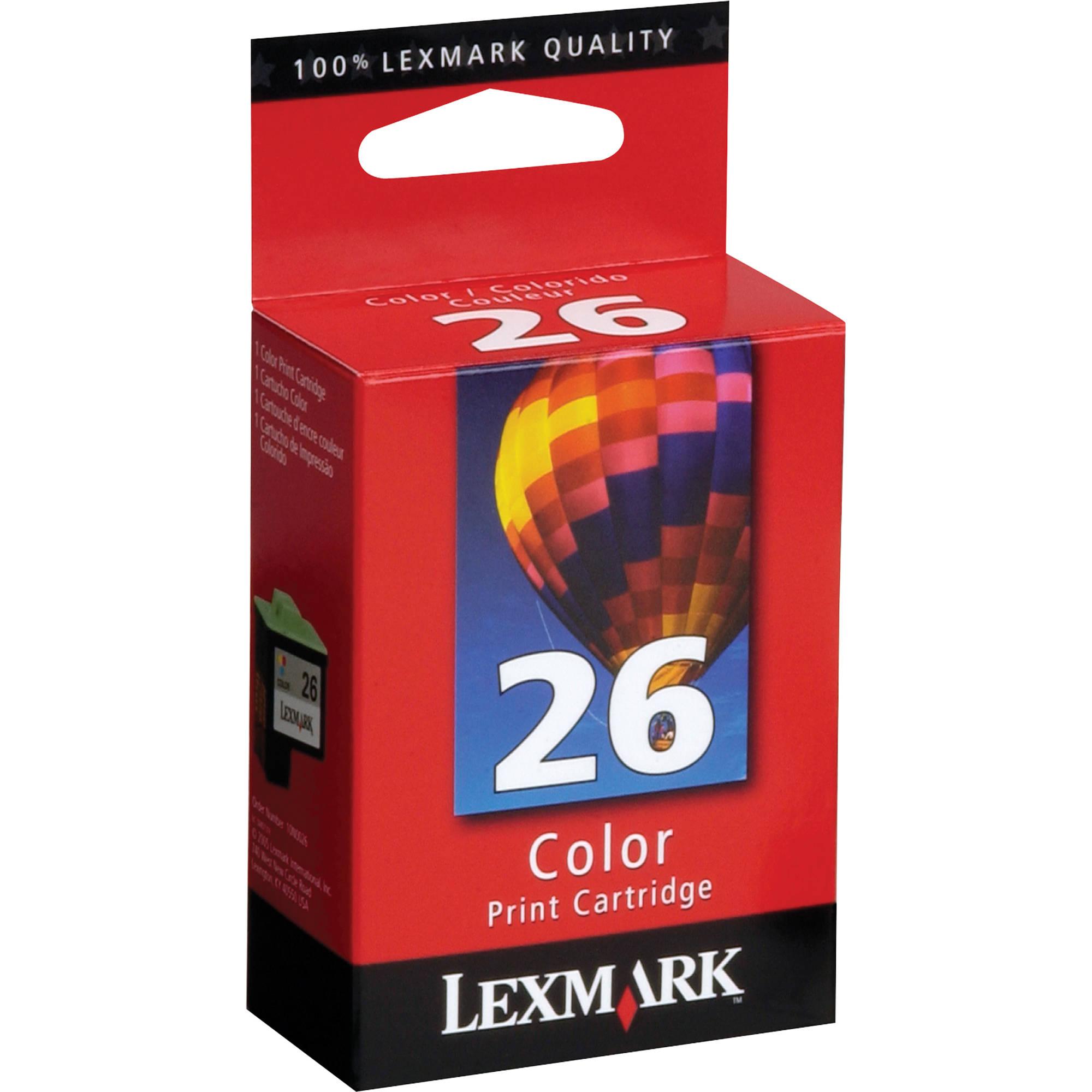 Lexmark 10N0026 26 Color Ink Cartridge