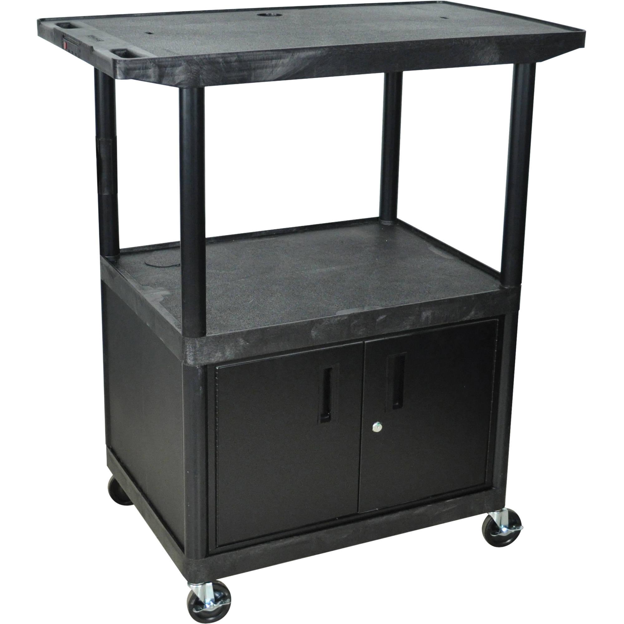 "Luxor Kitchen Cabinets: Luxor 48"" (H) 3-Shelf Plasma TV Table W/Cabinet LE48CWT-B"