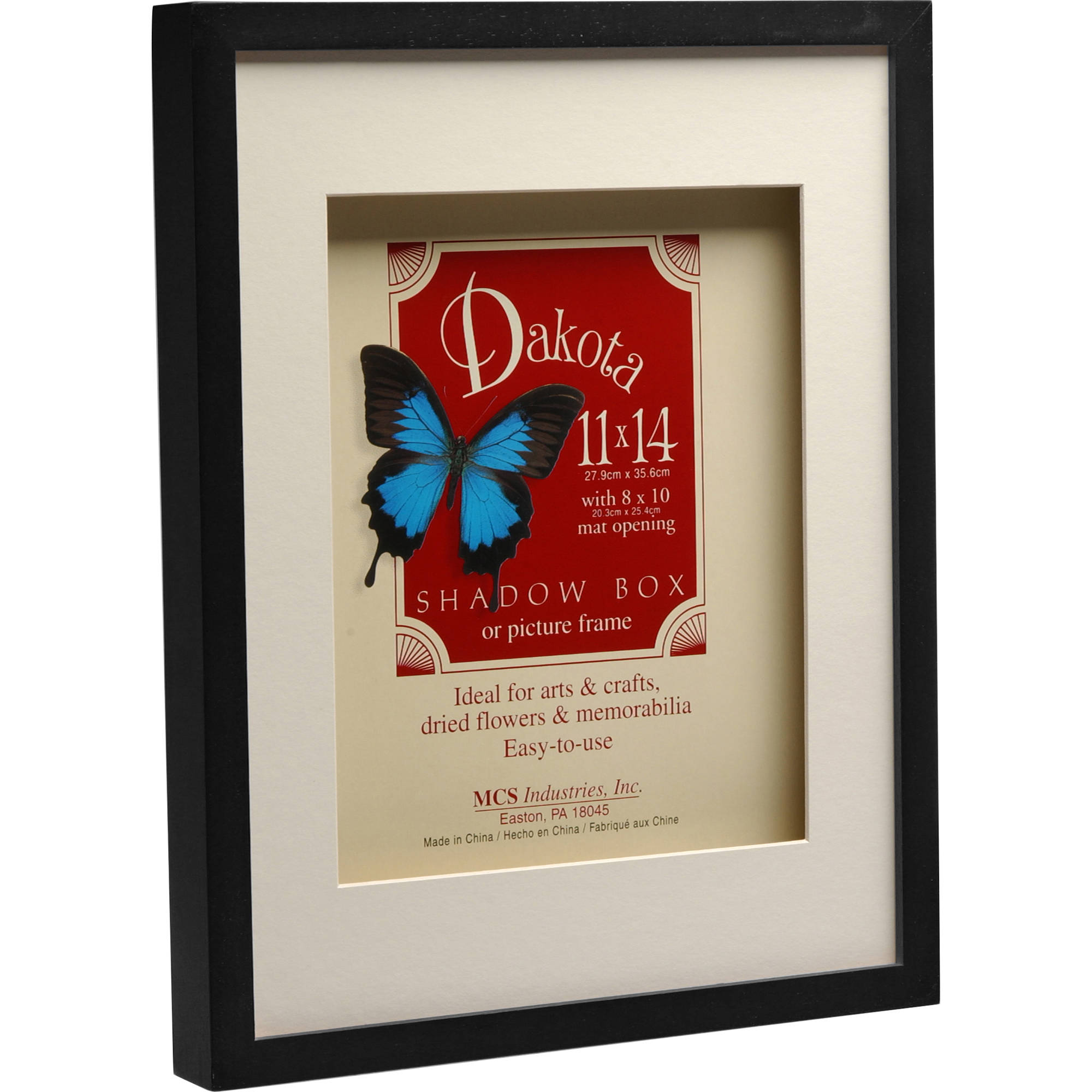 Mcs Dakota Shadow Box Frame 8 X 10 Black 52731 Bh