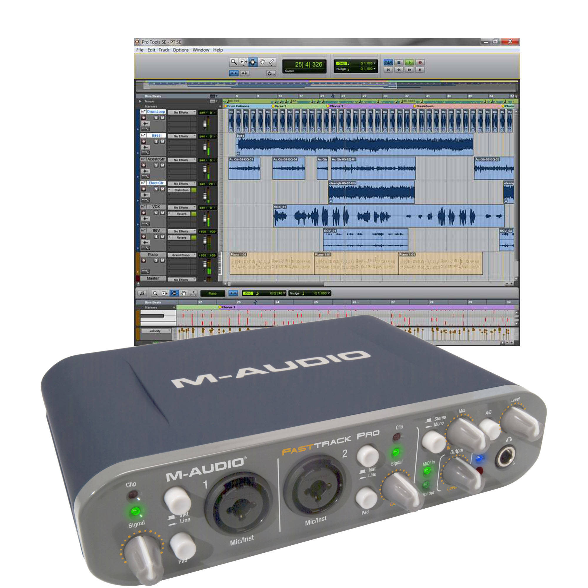 m audio fast track pro usb interface with pro 9900 65145 12 b h rh bhphotovideo com m audio fast track manuel m audio fast track manual download