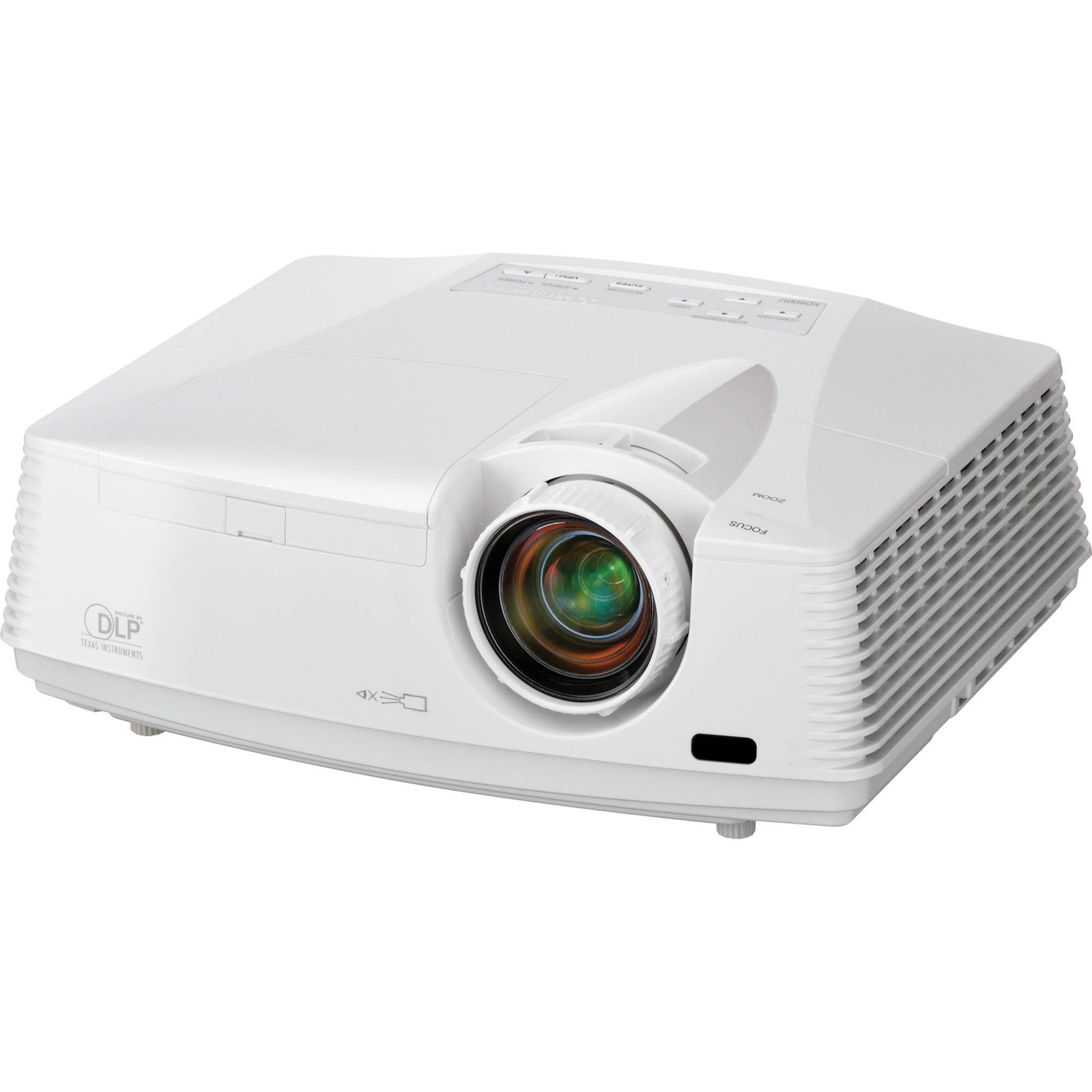 Mitsubishi wd620u wxga dlp projector wd620u b h photo video for Dlp micro projector