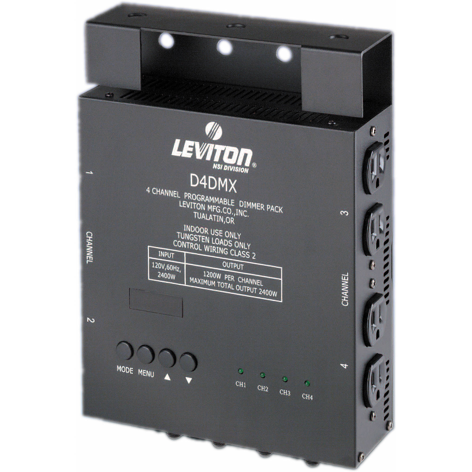 NSI / Leviton D4-DMX 4 Channel Programmable Dimmer D4DMX005MD3
