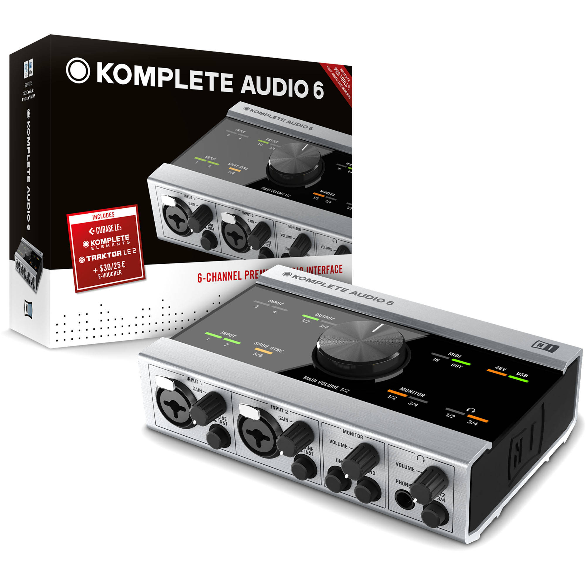 native instruments komplete audio 6 usb 2 0 digital 21066 b h