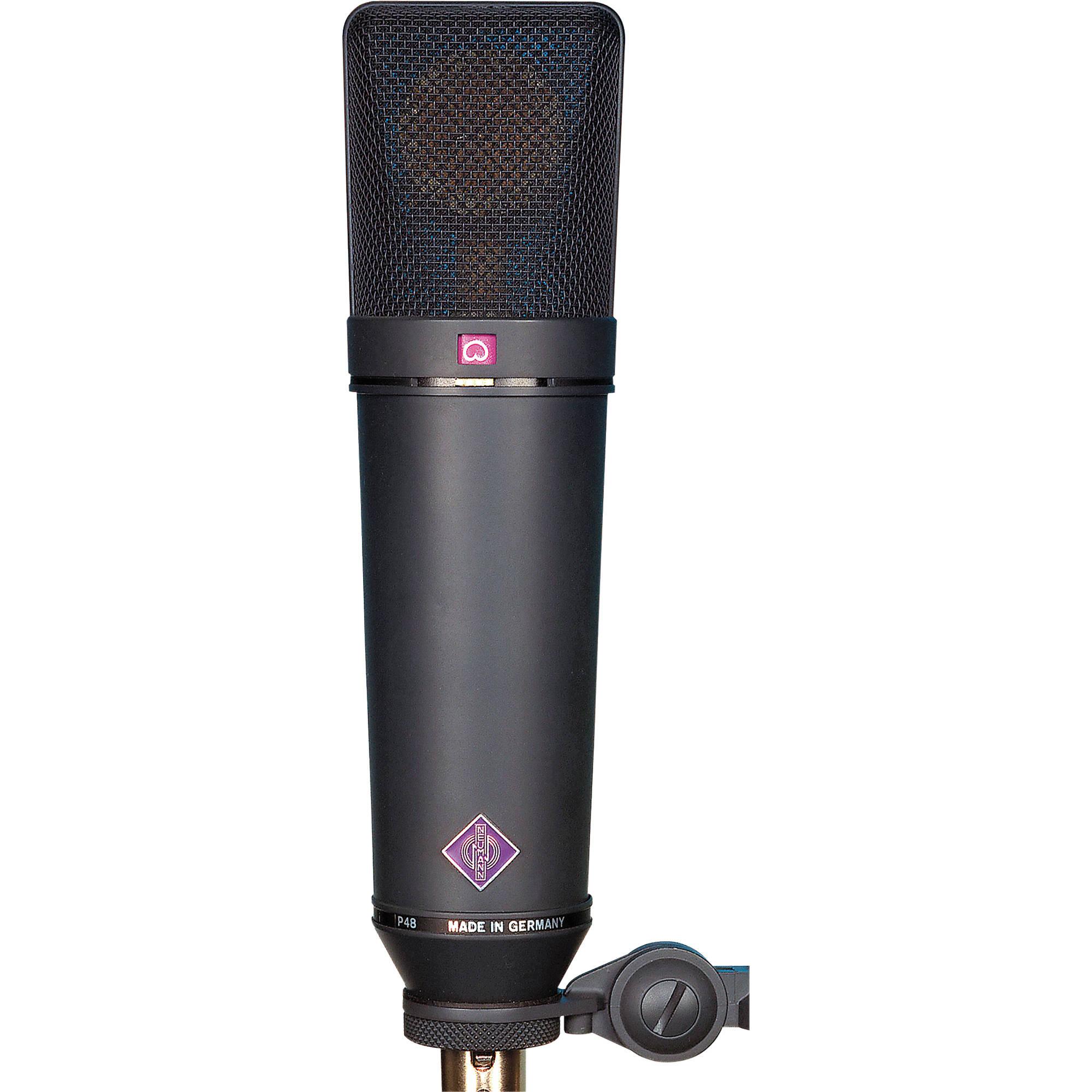 Neumann U 87 Ai Condenser Microphone Black U87aimt B Amp H Photo