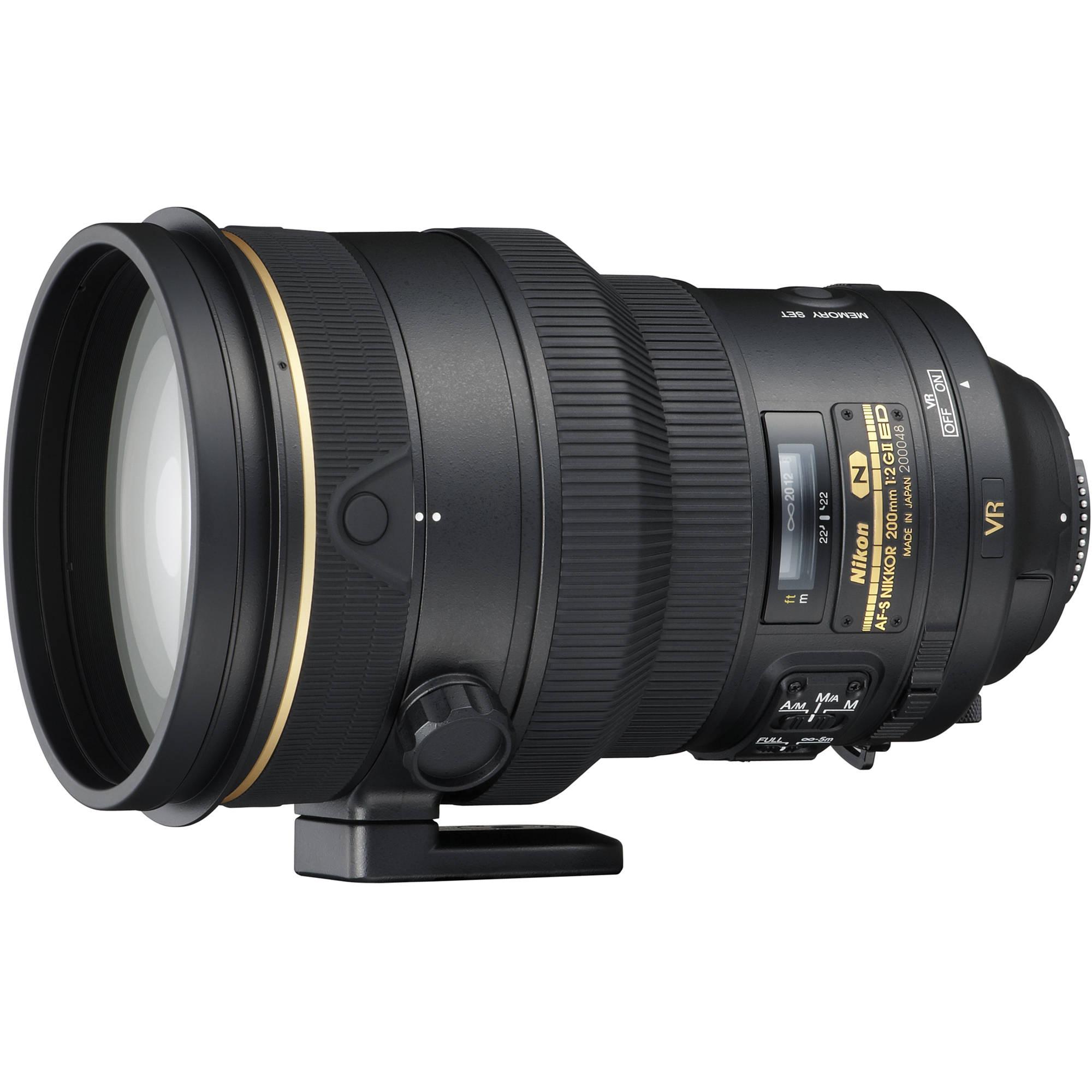 Nikon Af S Nikkor 200mm F 2g Ed Vr Ii Lens 2188 B Amp H Photo
