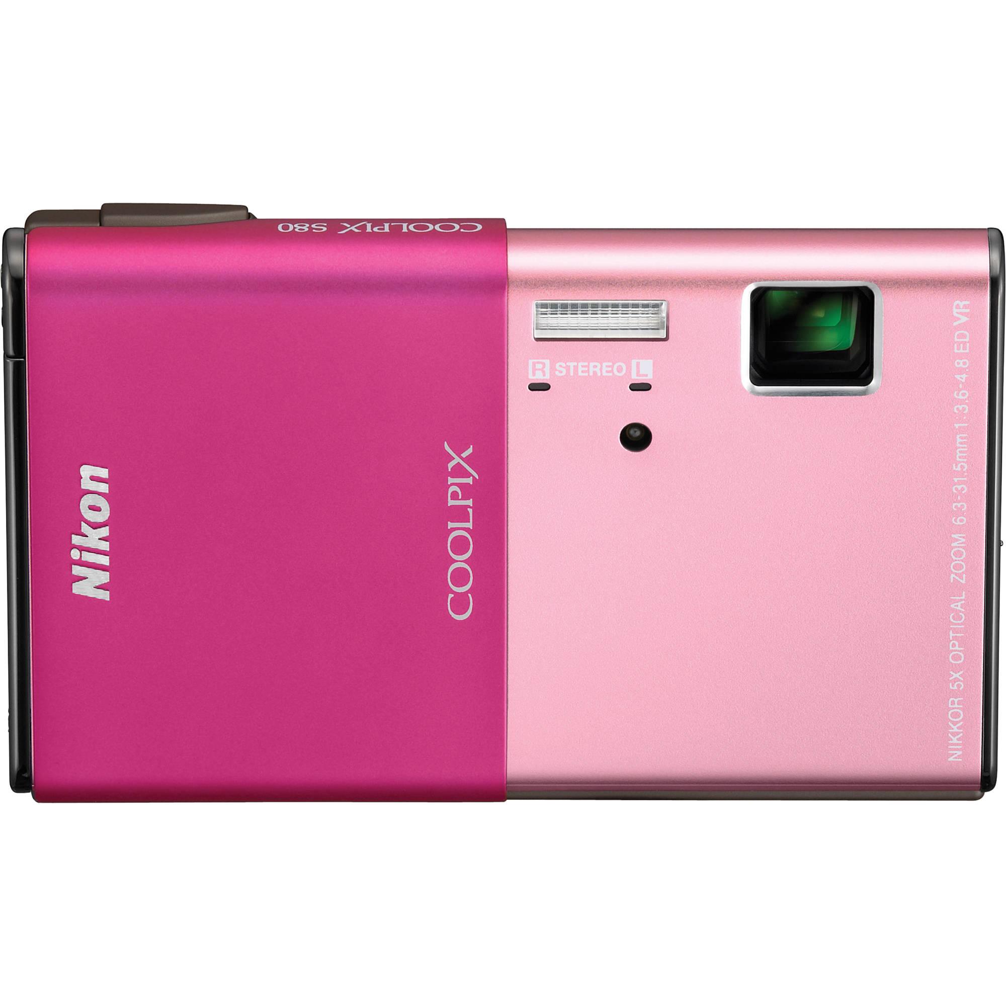Nikon CoolPix S80 Digital Camera (Pink) 26230 B&H Photo Video