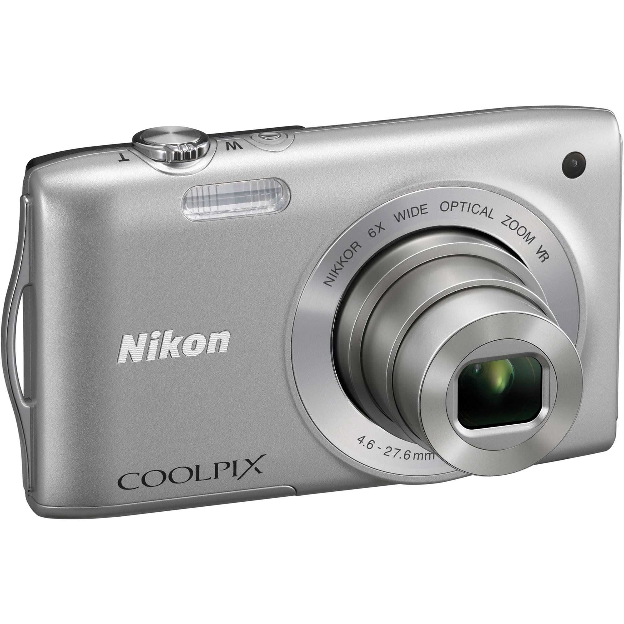 nikon coolpix s3300 digital camera silver 26309 b h photo rh bhphotovideo com nikon coolpix s3000 user manual Nikon Coolpix User Manual