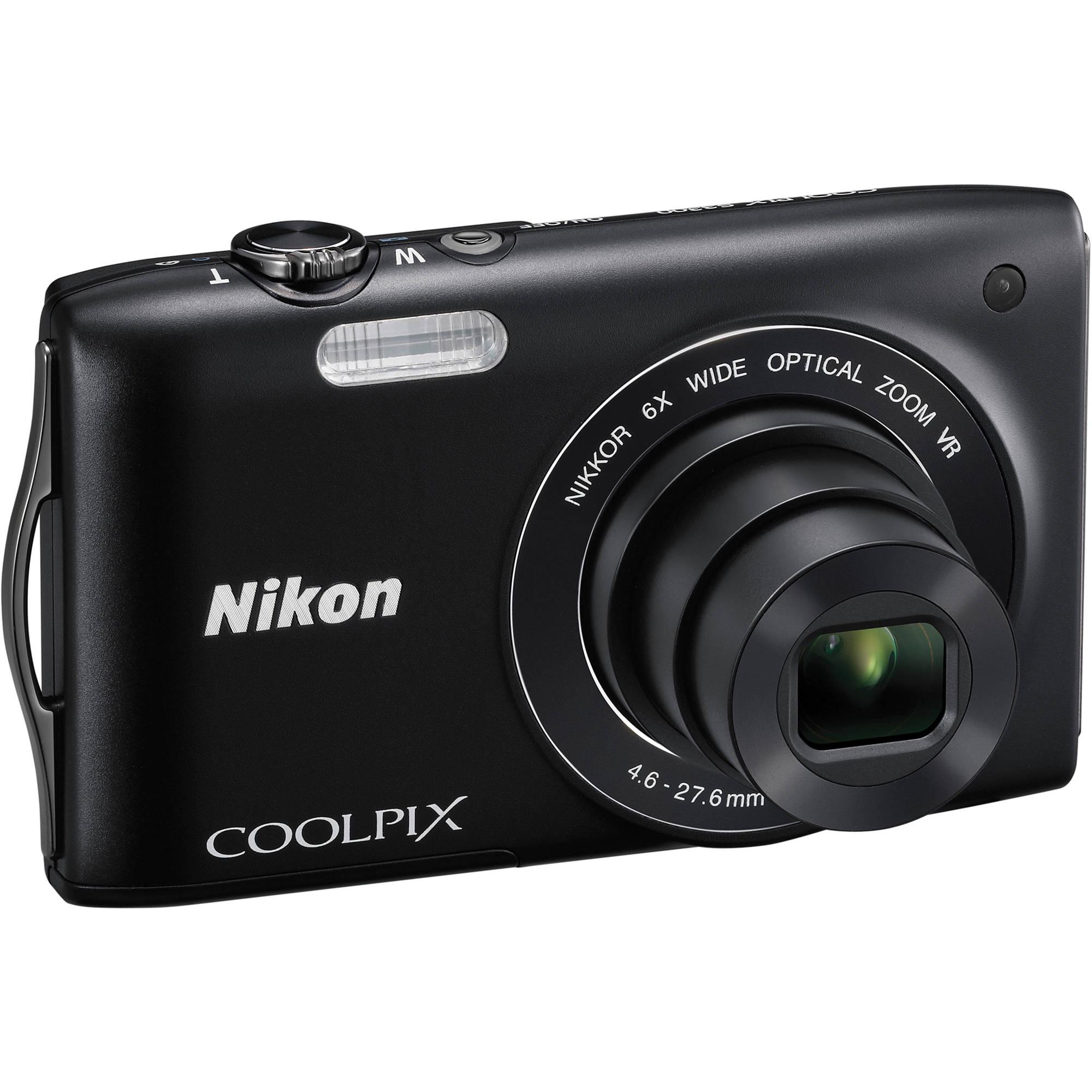 nikon coolpix s3300 digital camera black 26310 b h photo video rh bhphotovideo com nikon coolpix s33 instruction manual Nikon Coolpix S3500