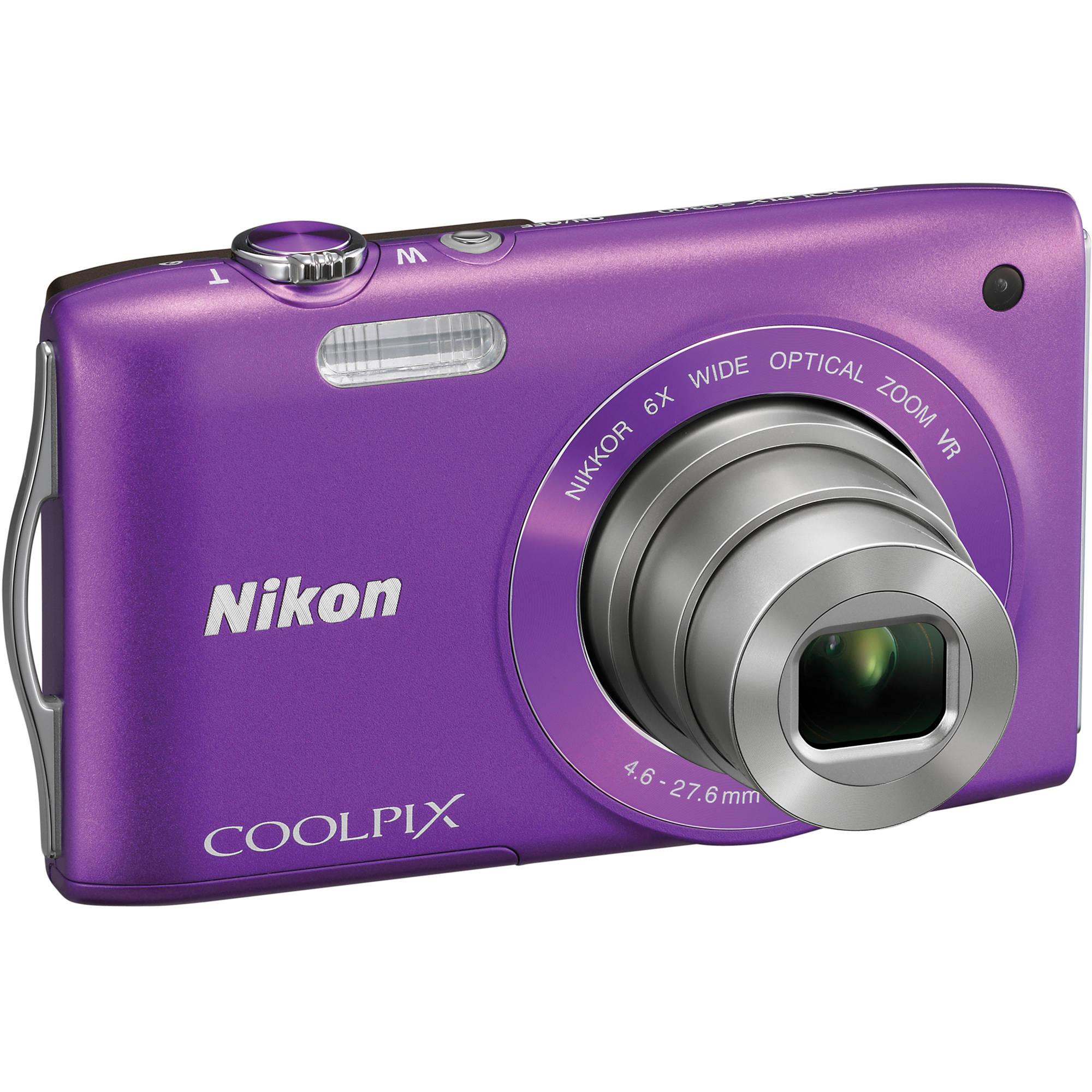 nikon coolpix s3300 digital camera purple 26312 b h photo rh bhphotovideo com Nikon Coolpix User Manual nikon coolpix s33 reference manual