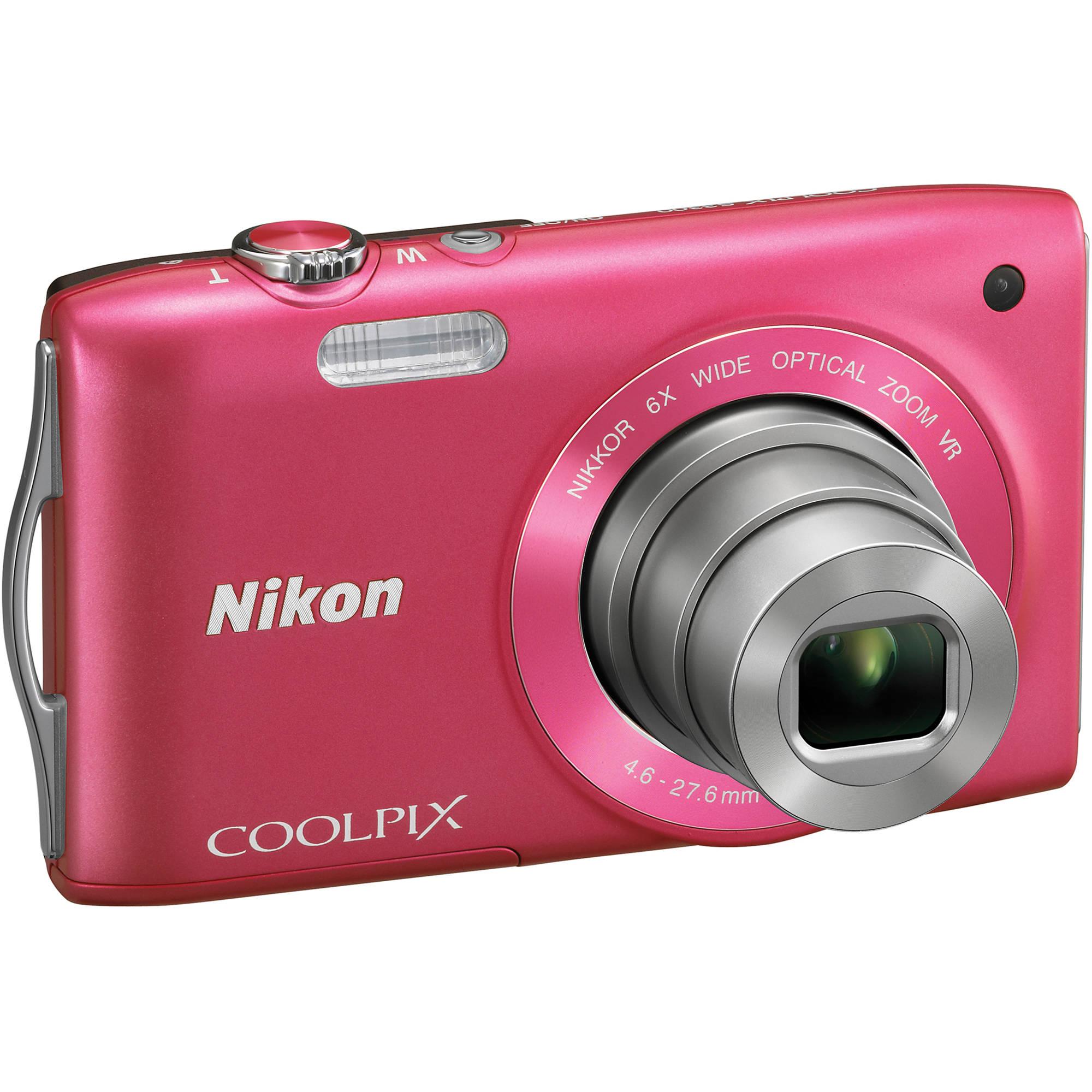 nikon coolpix s3300 digital camera pink 26313 b h photo video rh bhphotovideo com nikon coolpix s3000 user manual Nikon Coolpix S3500