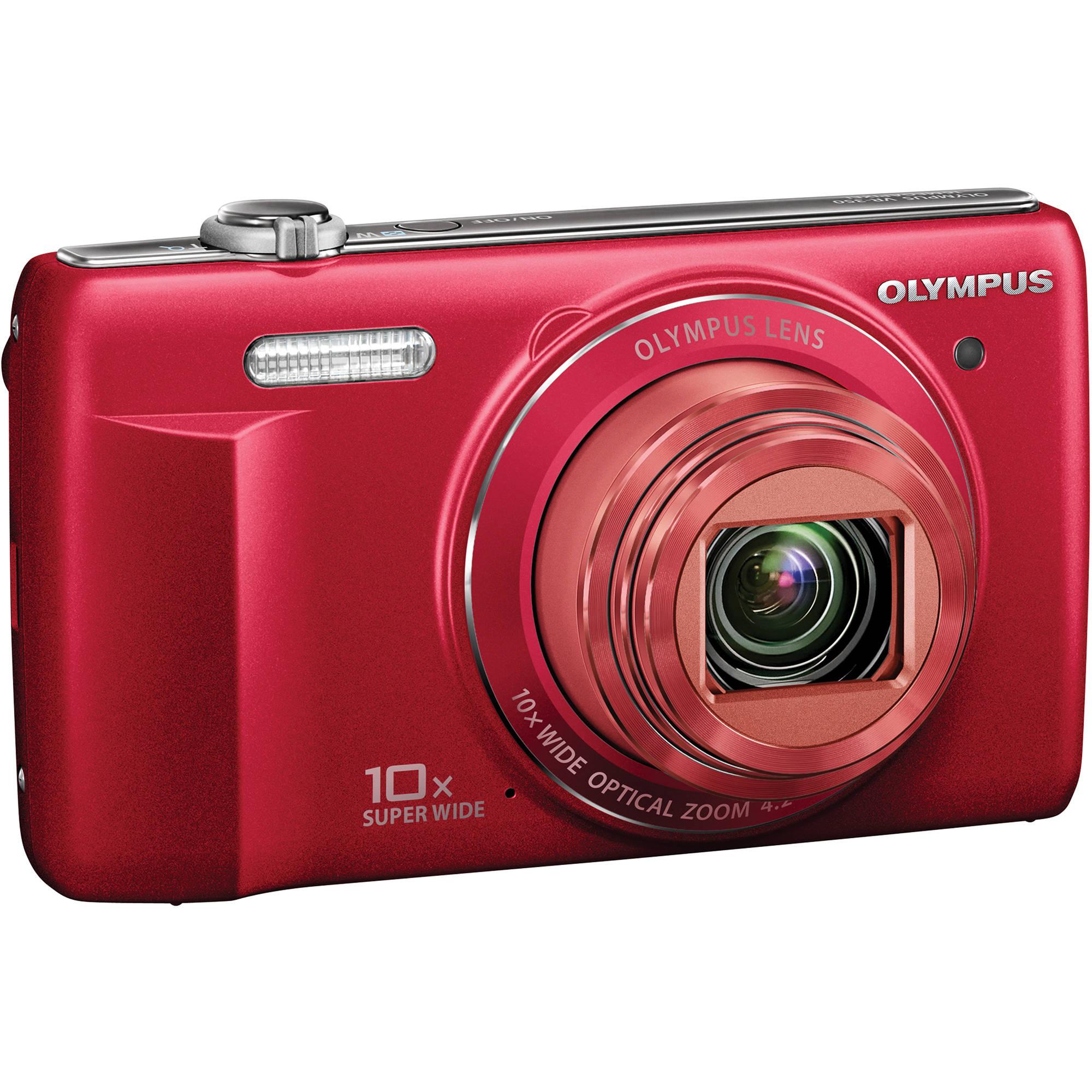 Olympus Digital Camera: Olympus VR-340 Digital Camera (Red) V105080RU000 B&H Photo