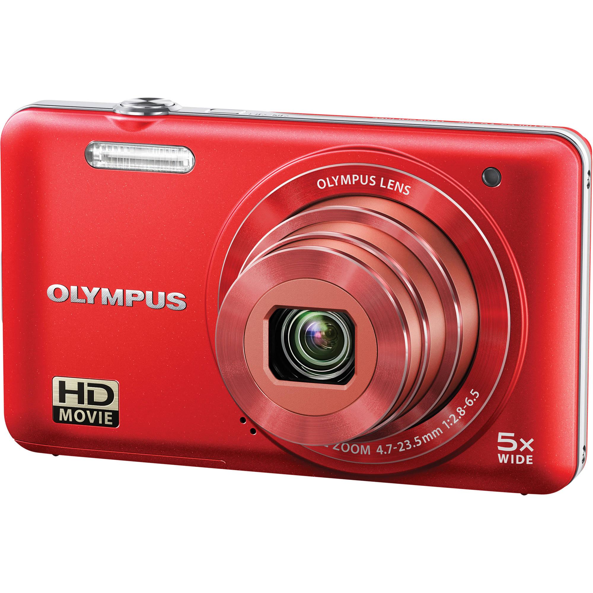 Olympus Digital Camera: Olympus VG-160 Digital Camera (Red) V106050RU000 B&H Photo