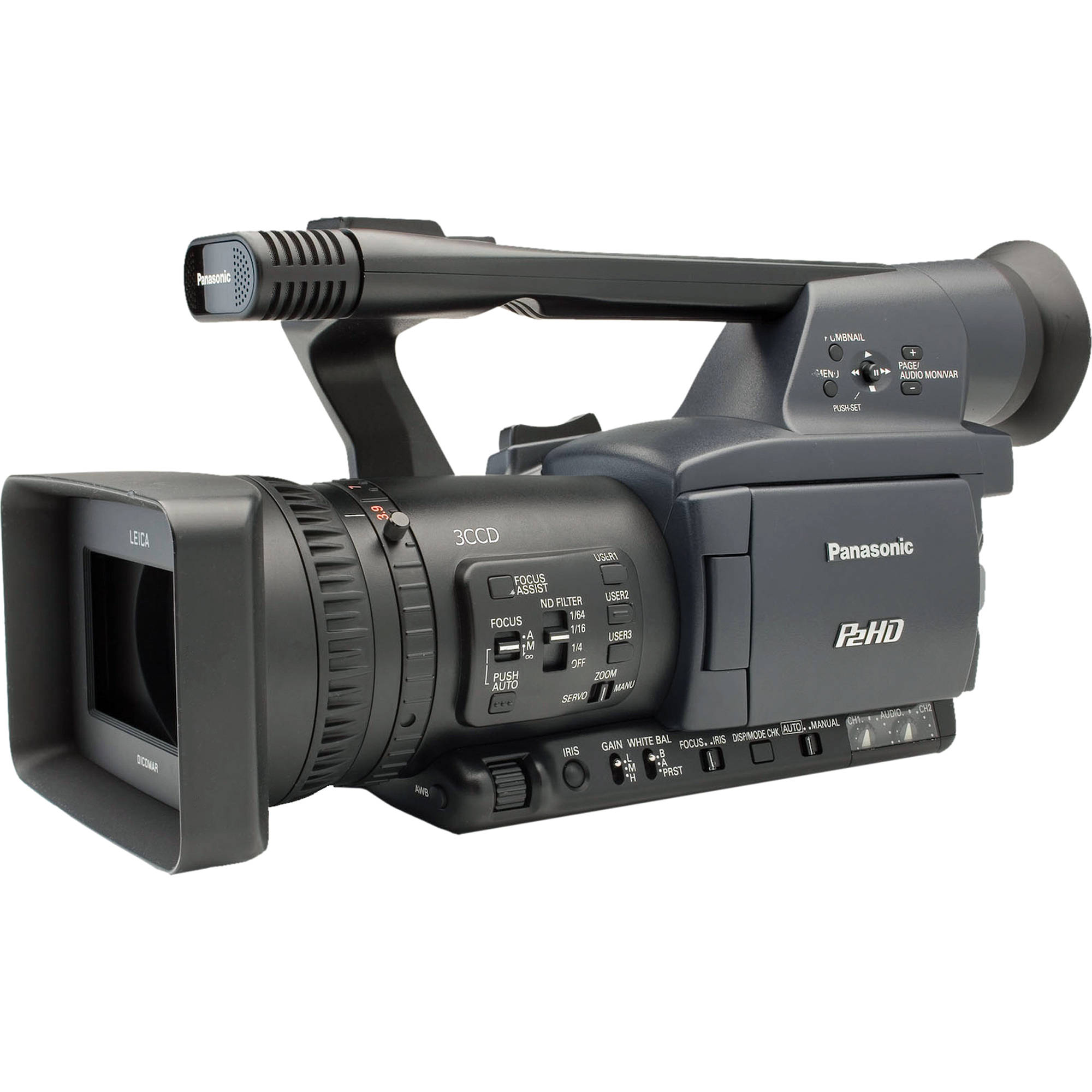 Panasonic Ag Hpx170 P2hd Solid State Camcorder Aghpx170pj B Amp H border=