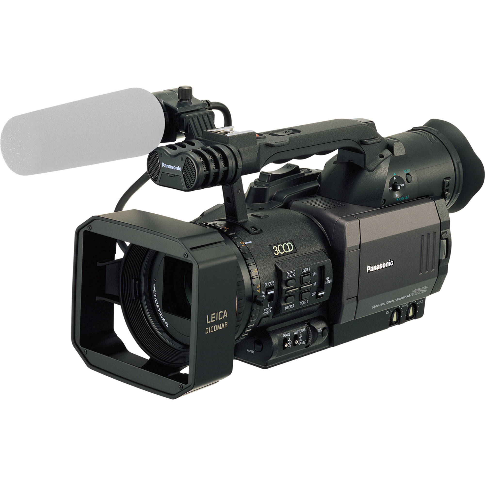 Panasonic AG-DVX100B 3-CCD 24p/30p/60i Mini-DV Cinema Camcorder, NTSC, with  CineSwitch Technology, CineGamma Software, FireWire Interface and New