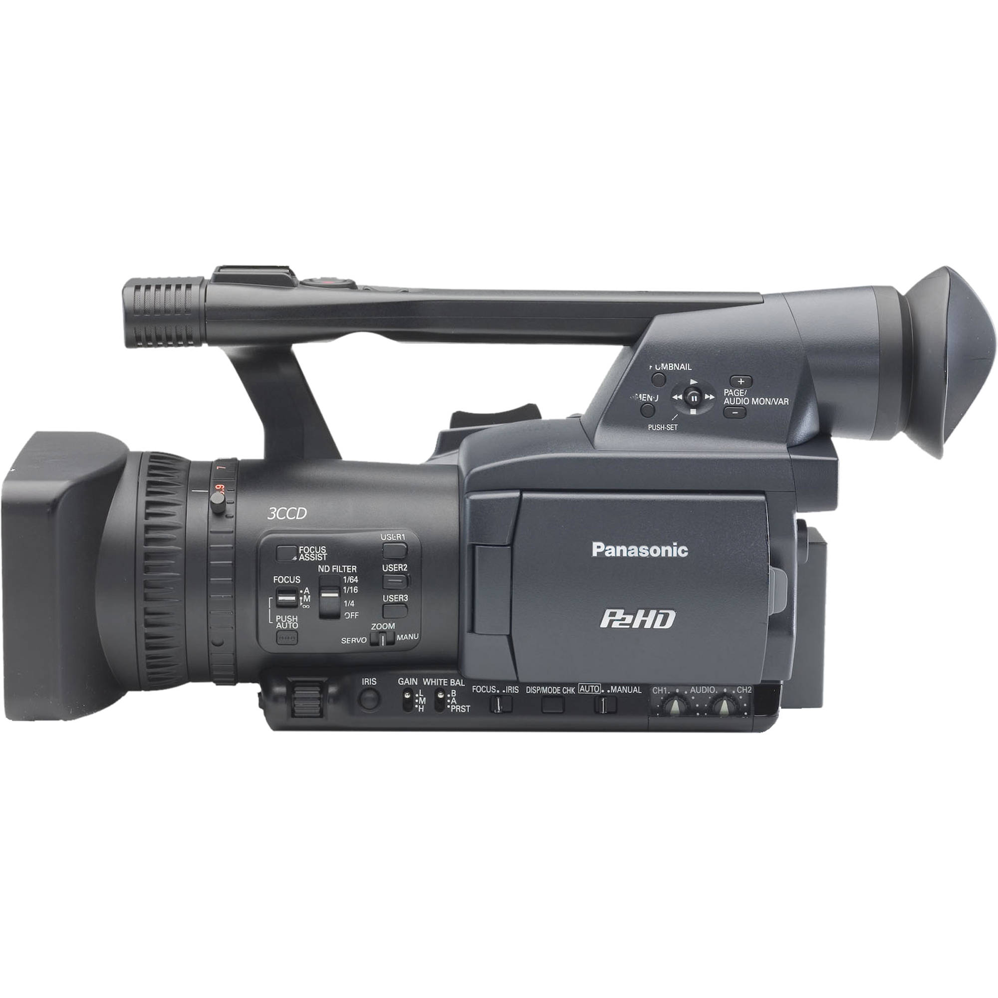 Panasonic Ag Hpx170 P2hd Solid State Camcorder Aghpx170puj B Amp H border=