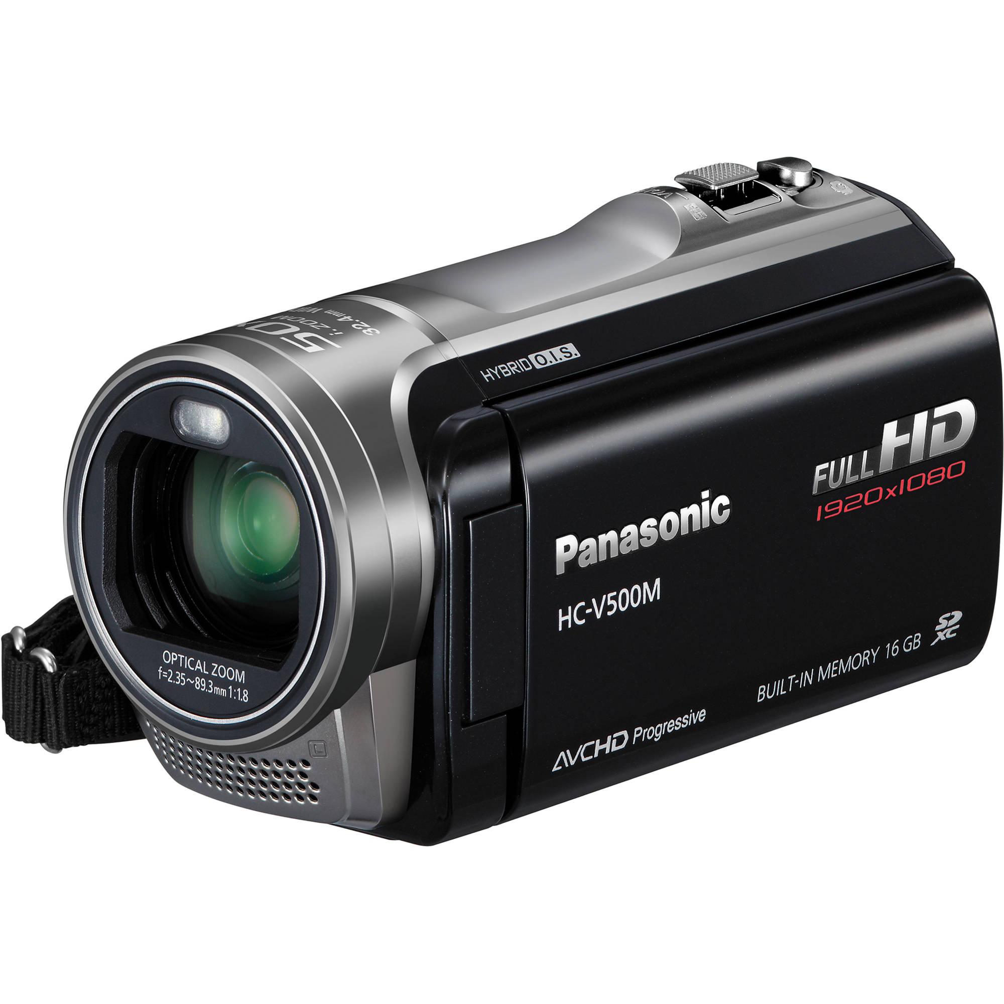 Panasonic 16gb V500m Full Hd Camcorder Hc V500mk B H Photo