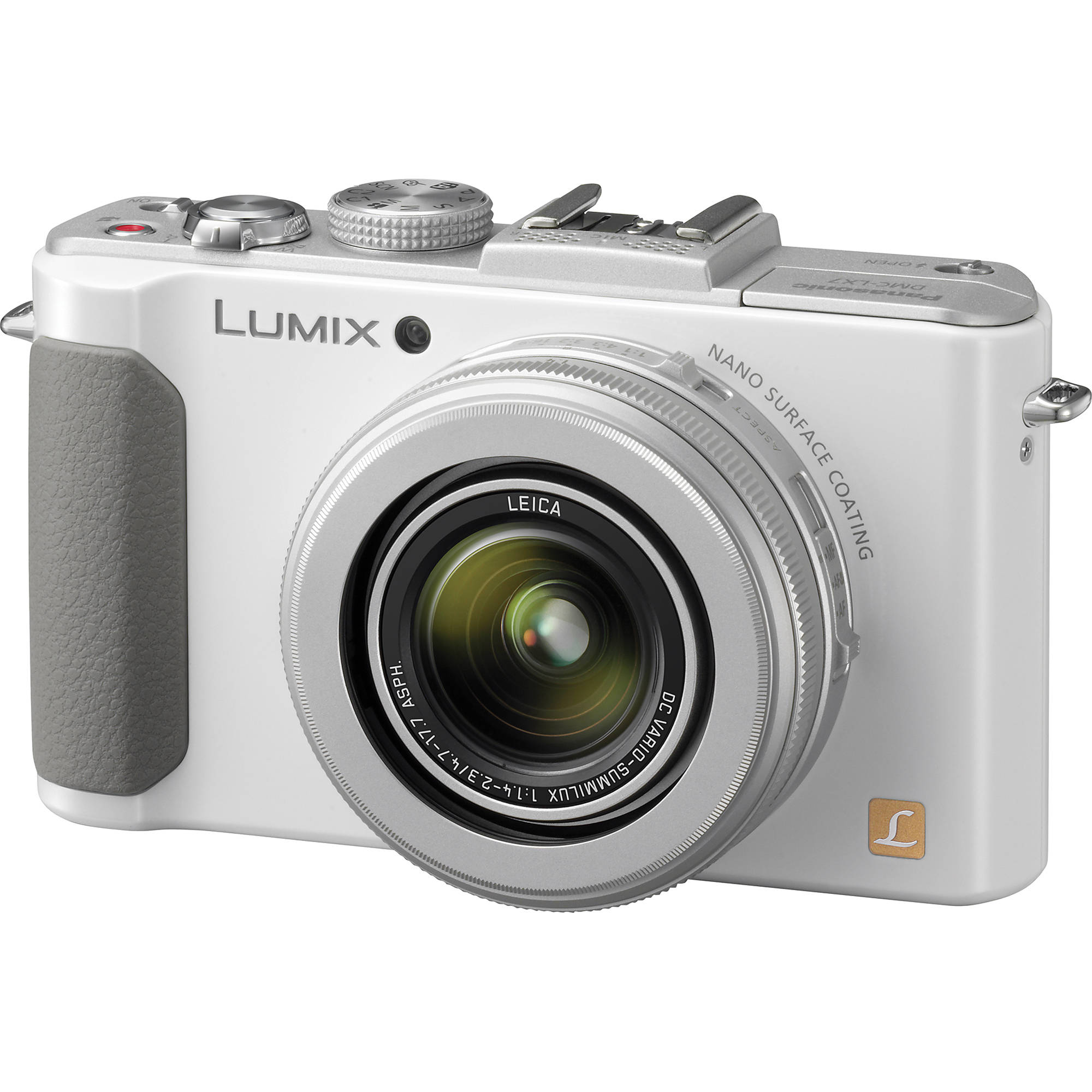Panasonic Lumix DMC-LX7 Digital Camera (White) DMC-LX7W B&H