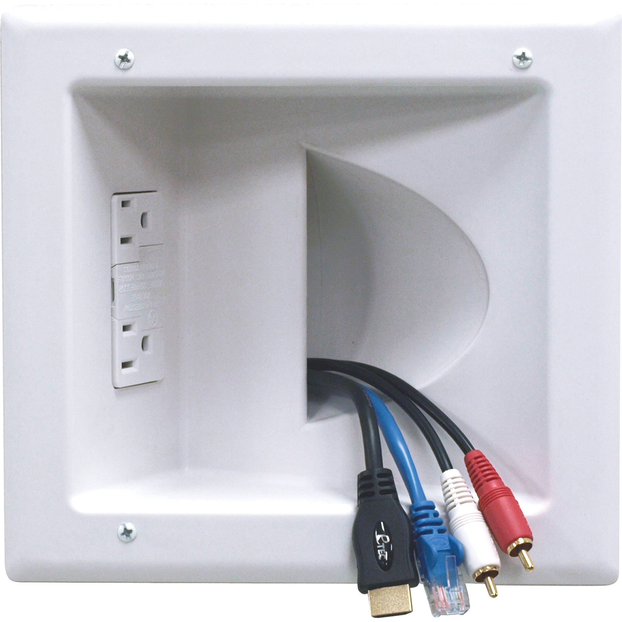 Recessed Low Voltage Wiring Enclosure Great Installation Of A House For Lighting Peerless Av Media Plate With Duplex Iba5 W Rh Bhphotovideo Com Panel