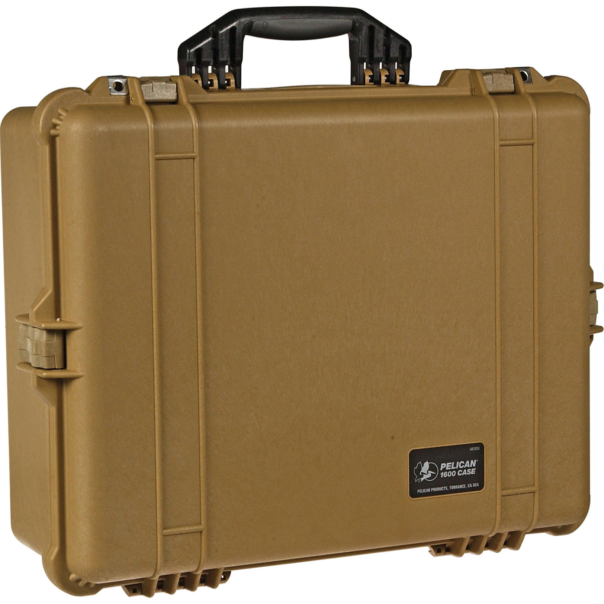 Pelican 1600 Case without Foam (Desert Tan) 1600-001-190 B&H