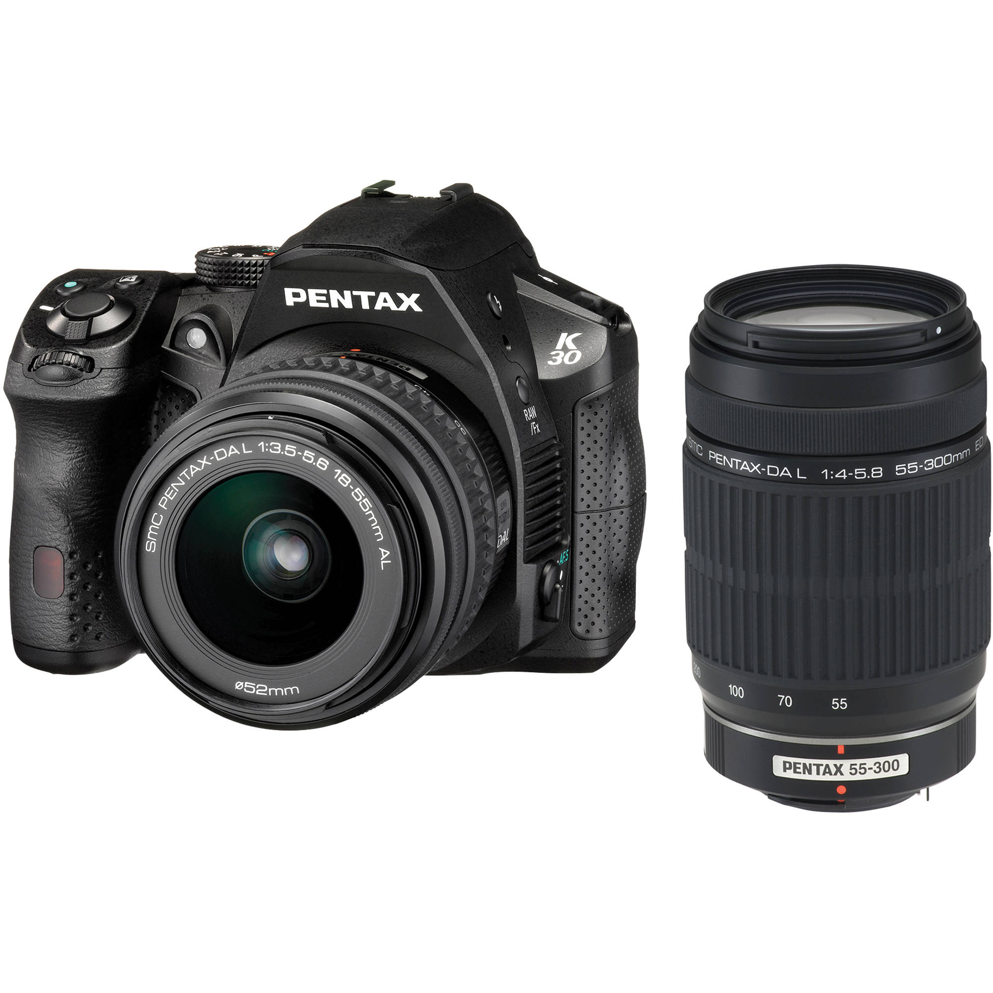 pentax k30 dslr camera with 18 55mm al and 55 300mm al 15656 b h rh bhphotovideo com Pentax DSLR AA Batteries LCD pentax k 30 operating manual