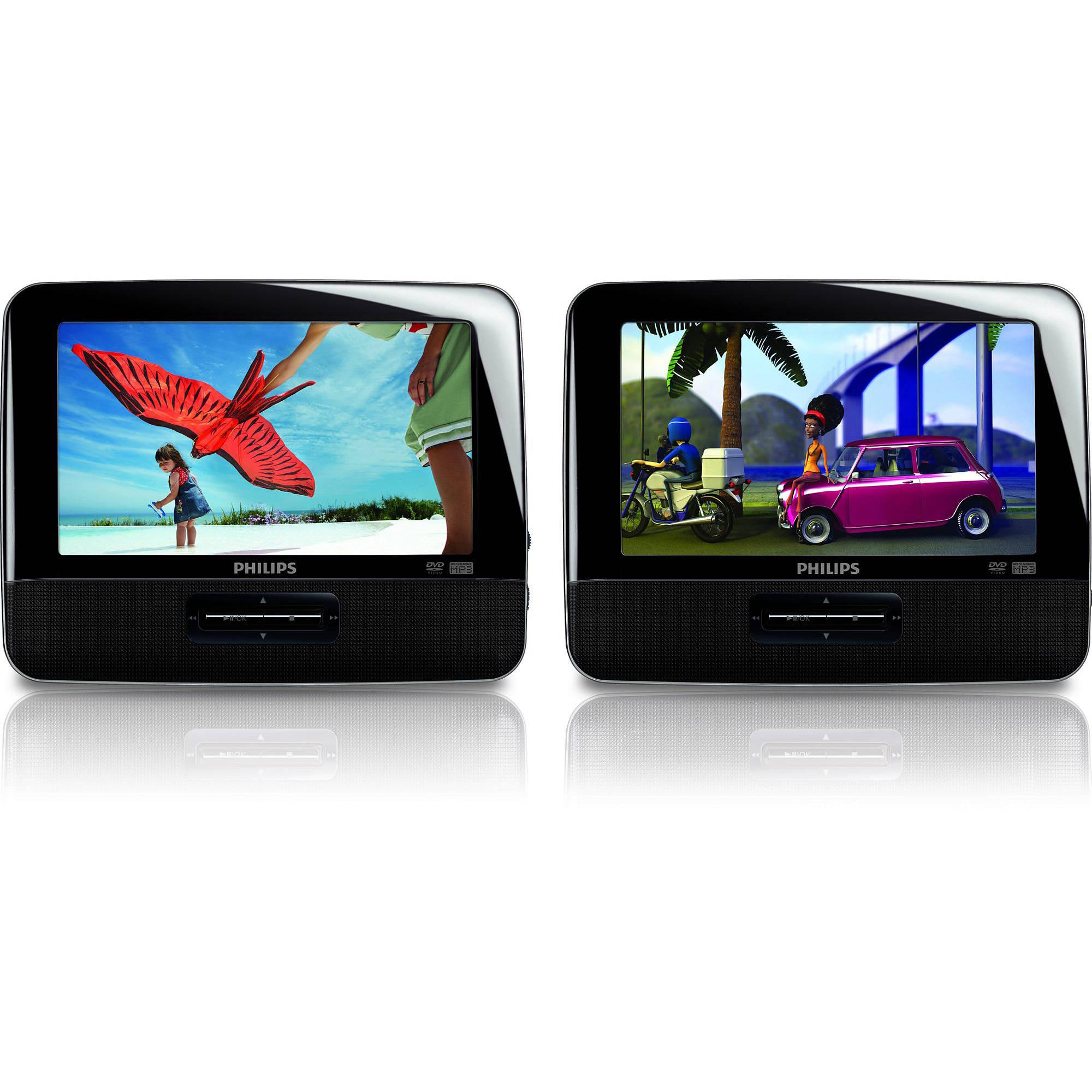 Philips  Dual Screen Portable Car Dvd Player Reviews