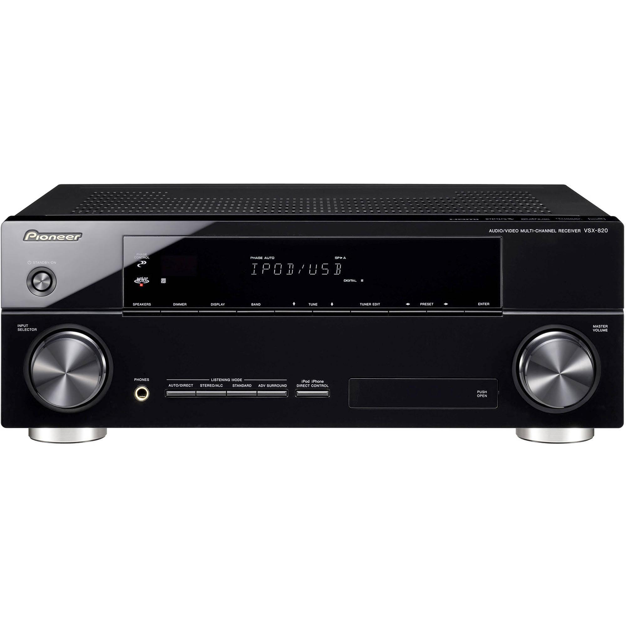 pioneer vsx 820 k 5 1 channel a v receiver vsx 820 k b h photo rh bhphotovideo com Sony 5.1 Receiver Sony STR-DE695 Specs