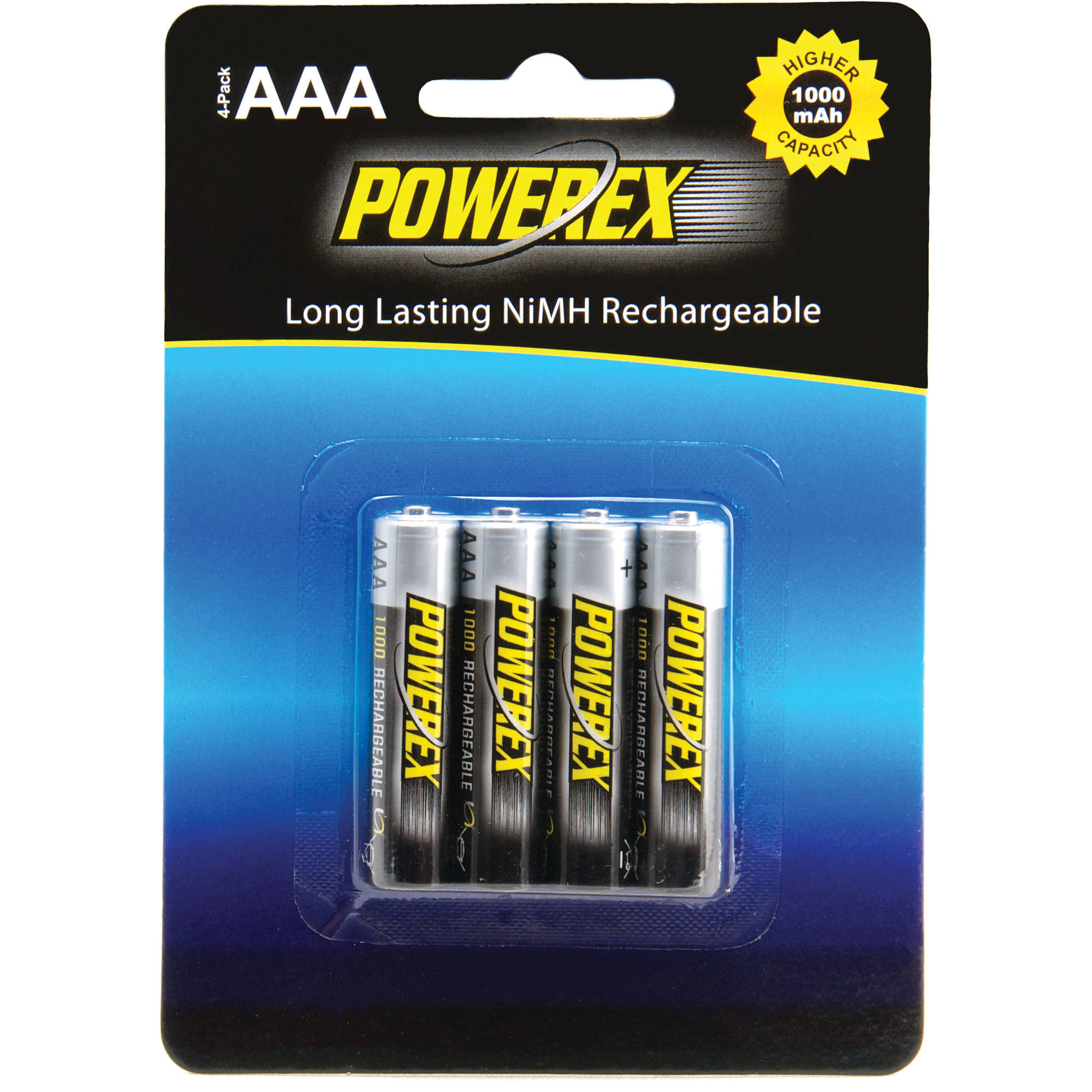 powerex rechargeable aaa nimh batteries 1 2v 1000mah mhraaa4. Black Bedroom Furniture Sets. Home Design Ideas