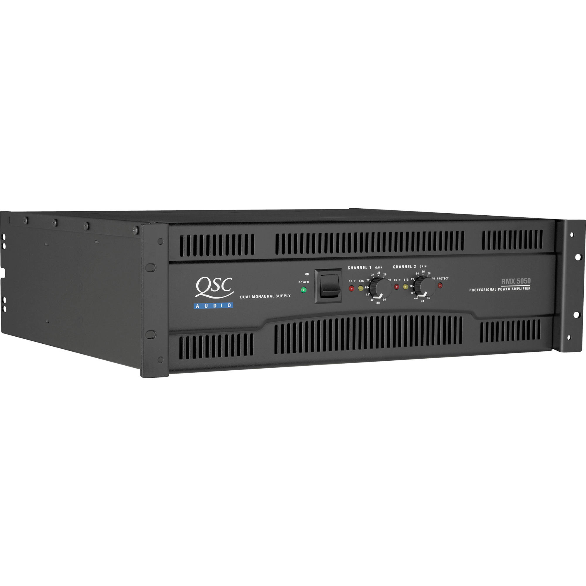 Qsc Rmx 5050 2 Channel Power Amplifier Rmx5050 Bh Photo Video Loudspeaker Protection And Muting 1050w Per Into 8 Ohms