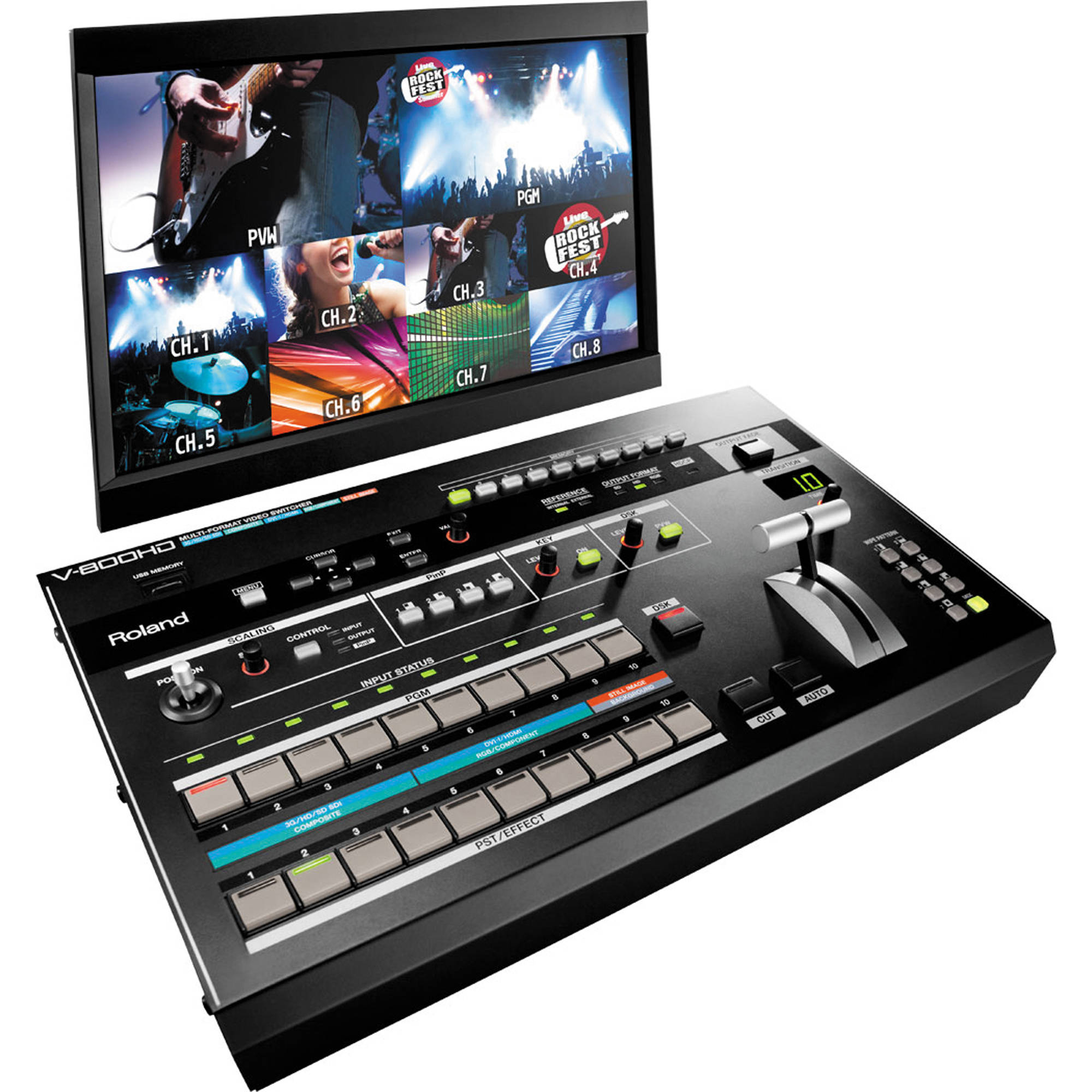 Roland V 800hd Multi Format Video Switcher Bh Photo Rbvhda8 3g Hd Sdsdi 1 Input 8 Output Distribution Amplifier