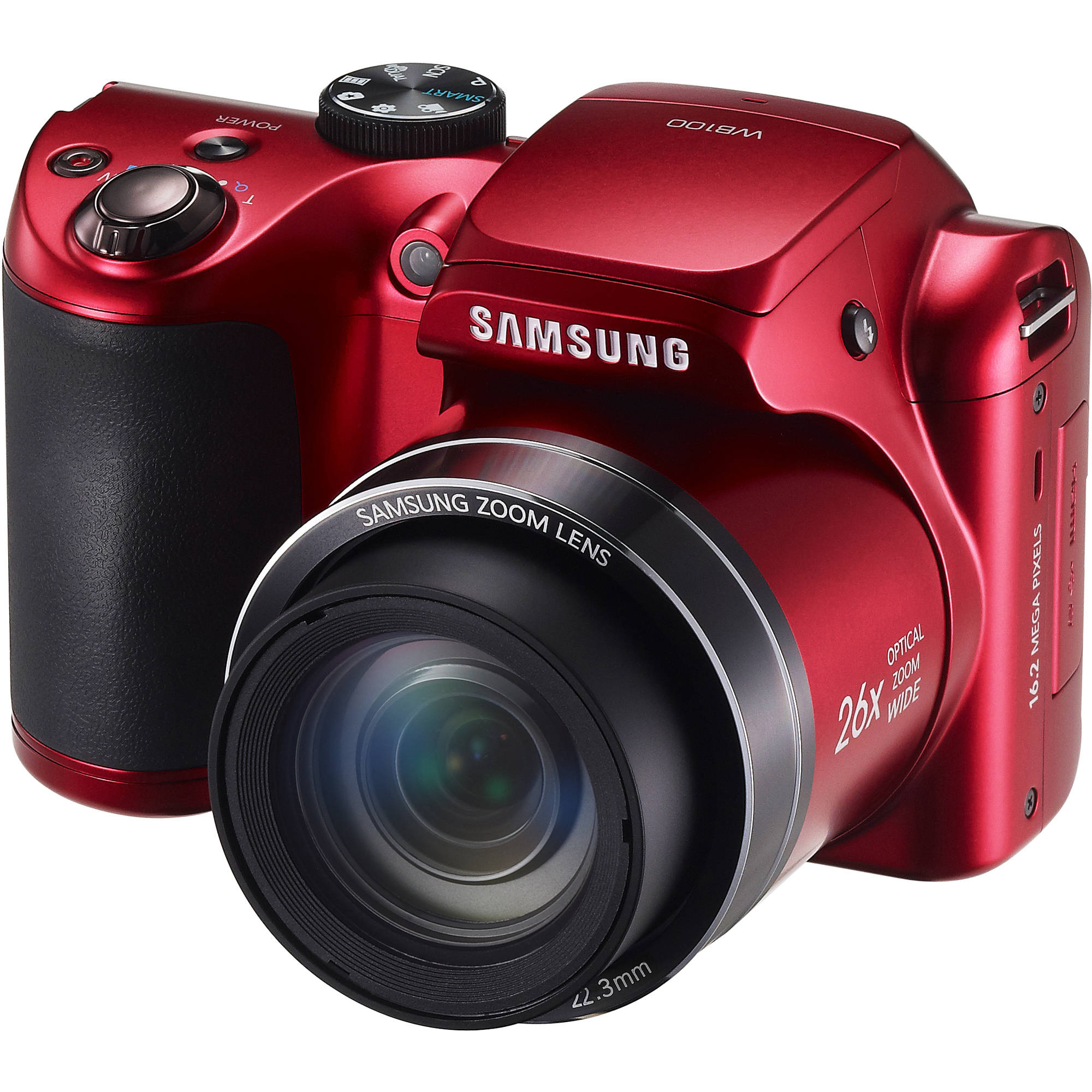 Samsung WB100 Digital Camera (Red) EC-WB100ZBARUS B&H Photo