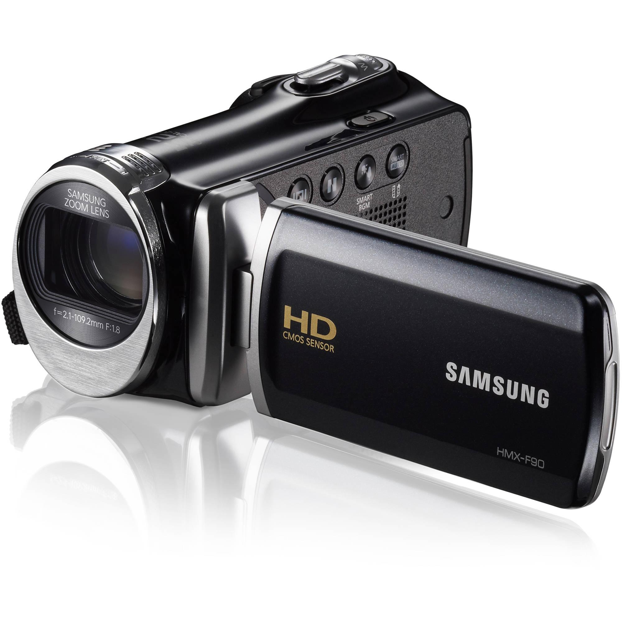 Samsung Hmx F90 Hd Camcorder Black Hmx F90bn Xaa B H Photo