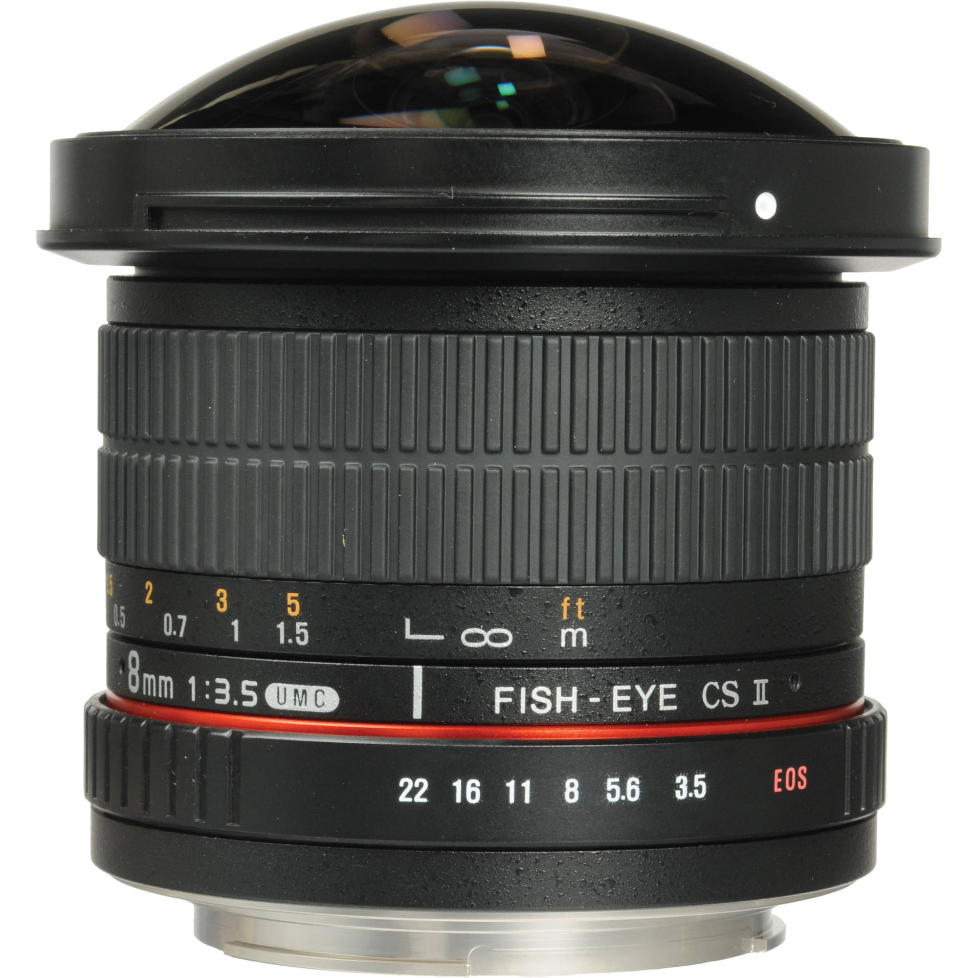 Samyang 8mm f 3 5 hd fisheye lens with removable hood syhd8m c for Fish eye lense