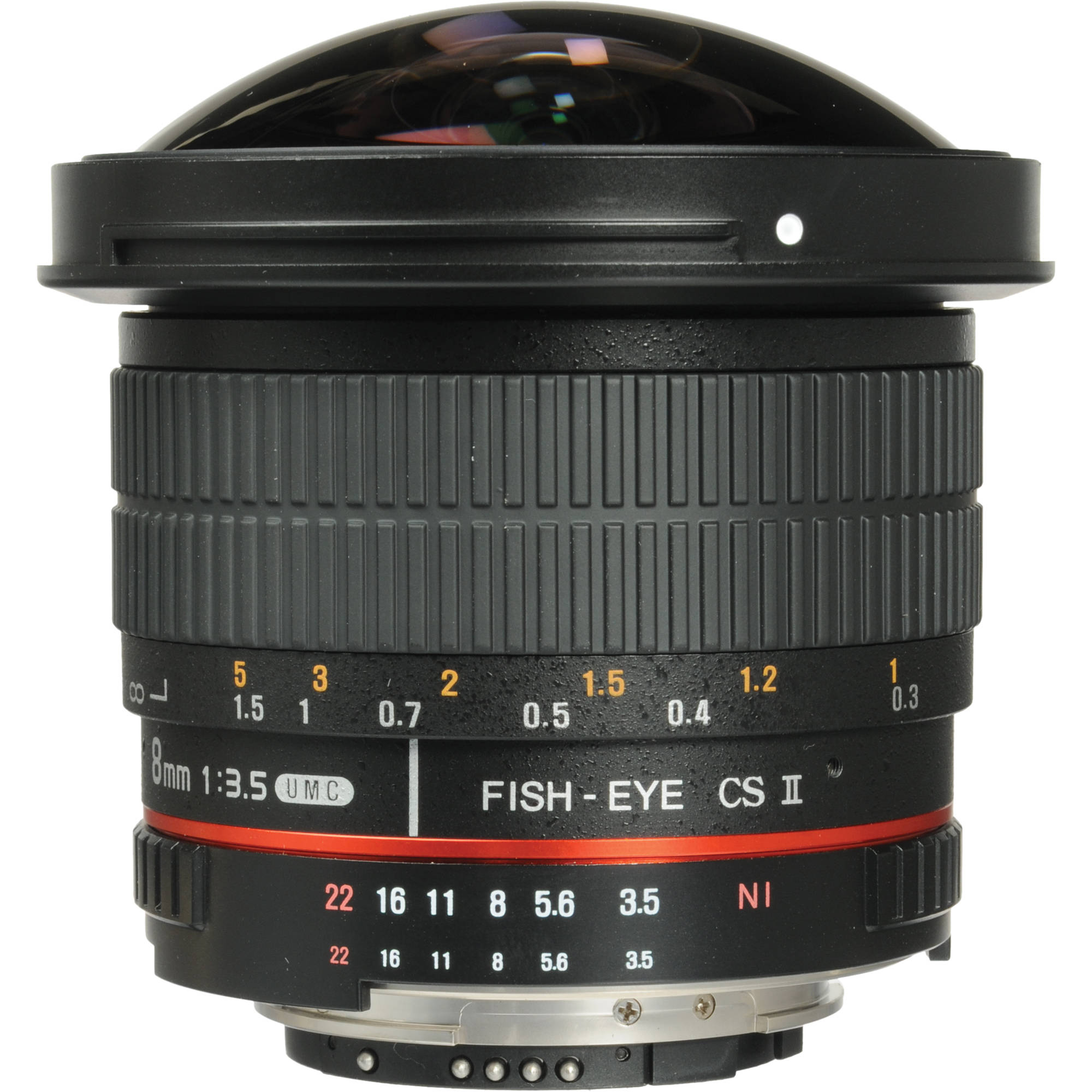 Samyang 8mm f 3 5 hd fisheye lens with ae chip and syhd8m for Fish eye camera