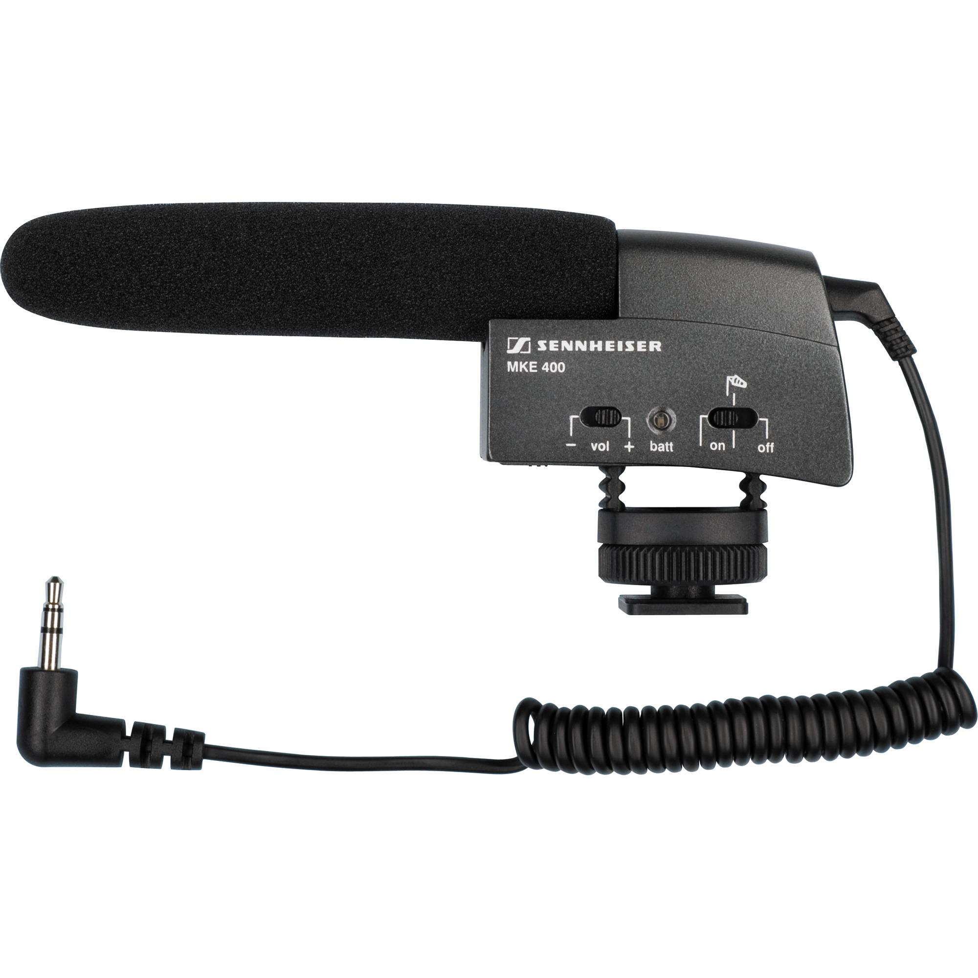 Sennheiser Mke 400 Compact Video Camera Shotgun Microphone Ecm Mic Preamplifier By Bc549