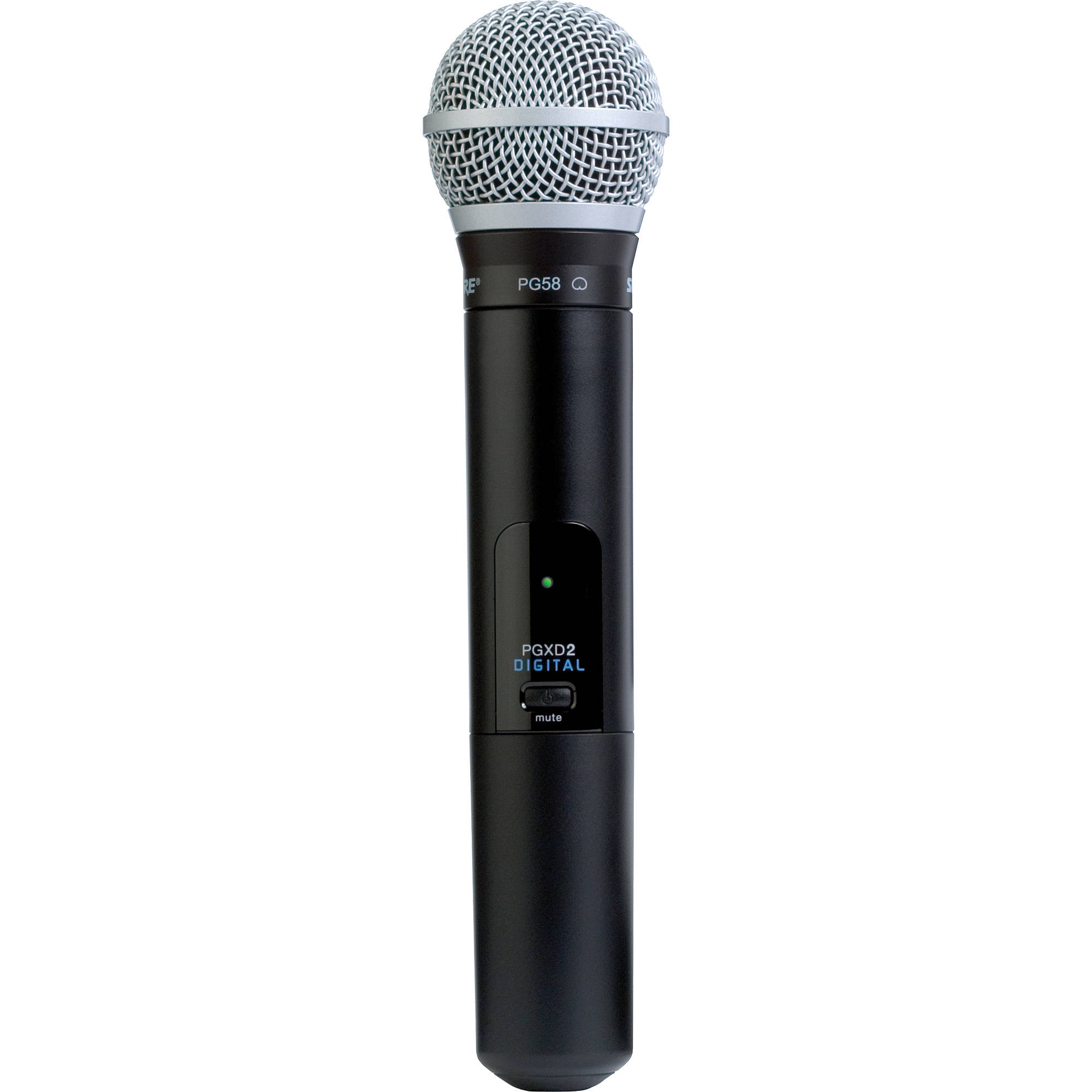 shure pgxd2 pg58 handheld wireless microphone pgxd2 pg58 x8 b h. Black Bedroom Furniture Sets. Home Design Ideas