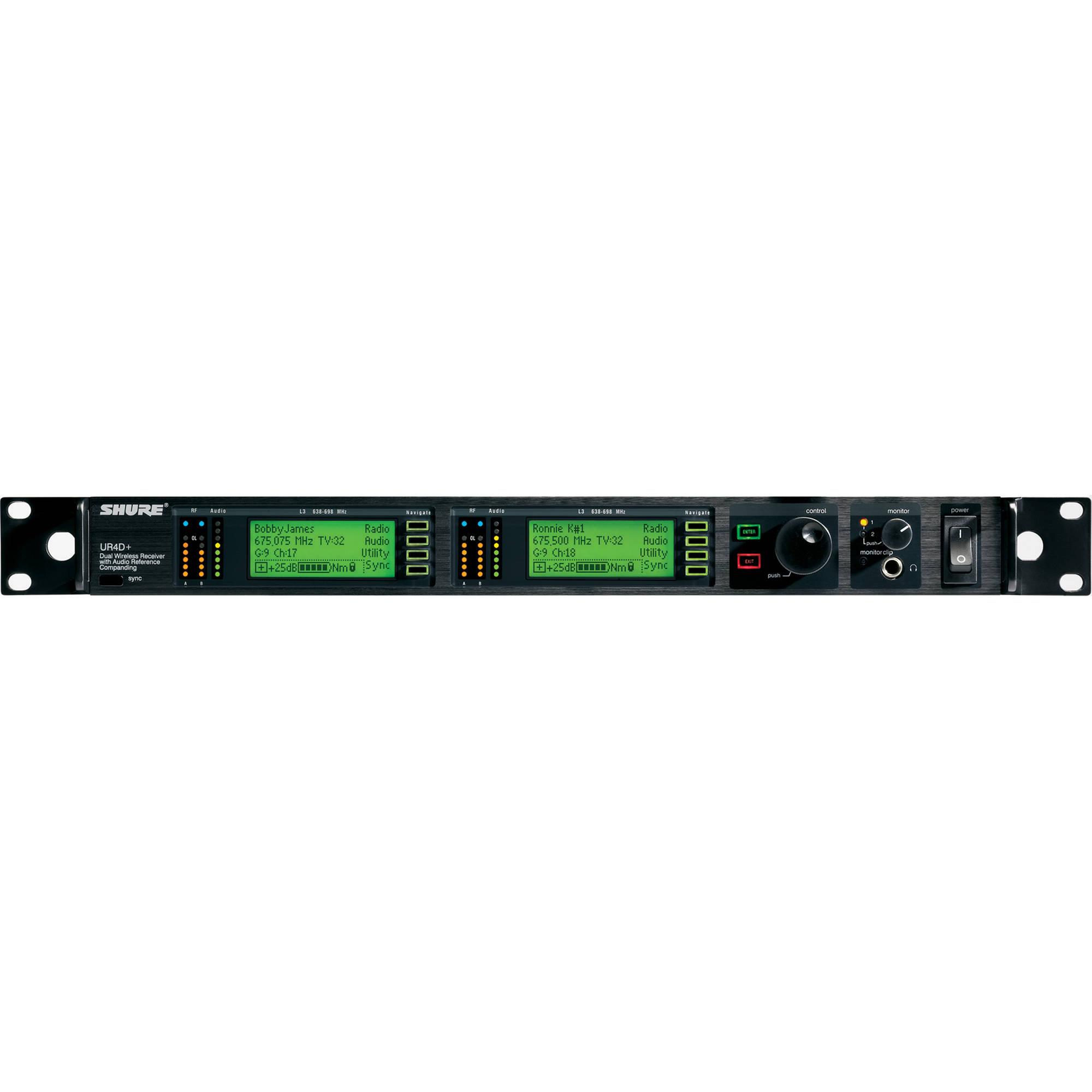 Shure Ur4d Dual Diversity Uhf Wireless Microphone H4 Bh Receiver Circuit