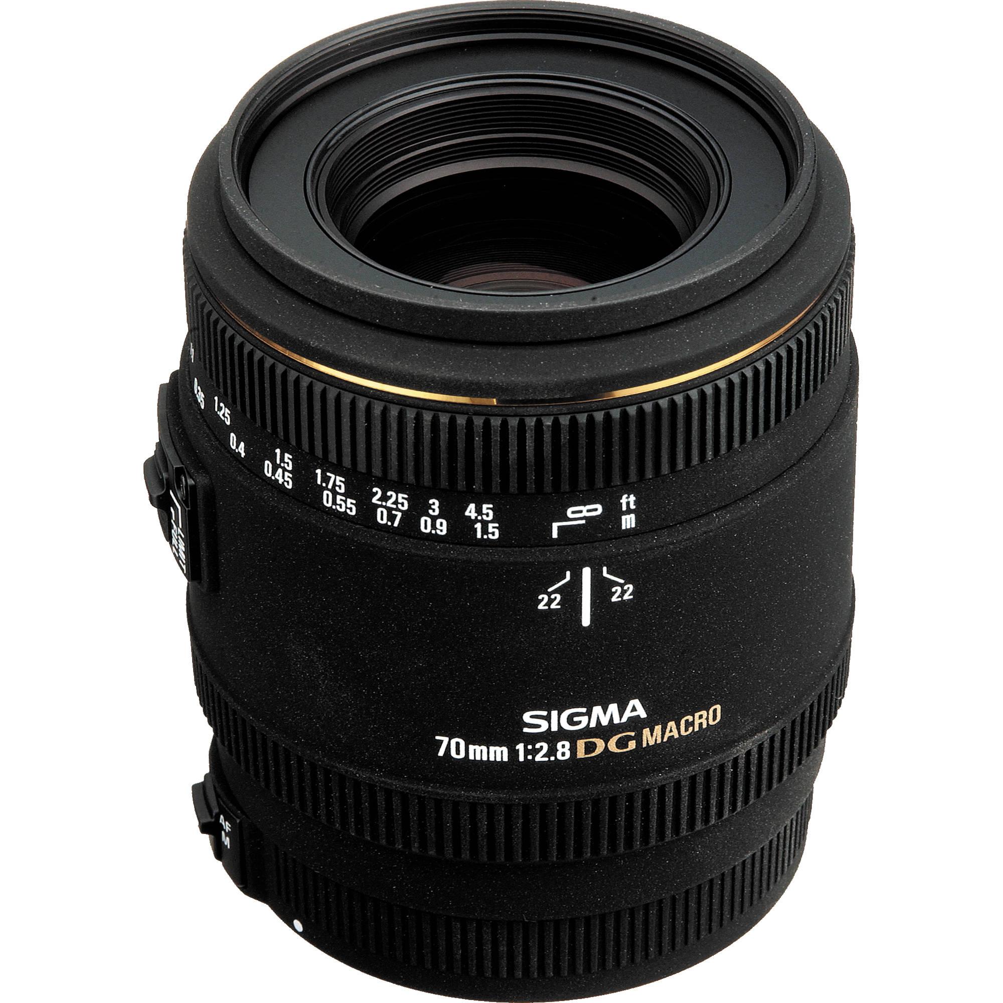 Sigma 70mm f/2.8 EX DG Macro AF Lens for Nikon AF 270306 B&H