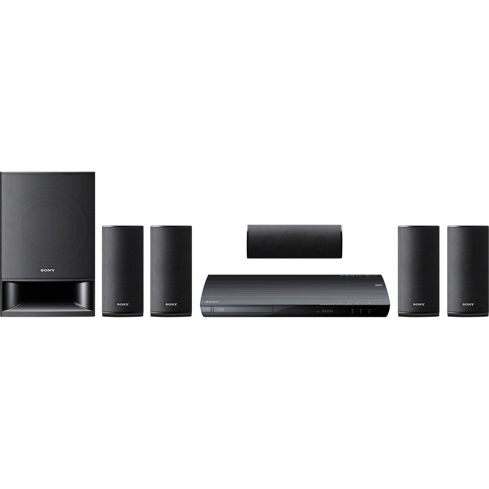 sony bdv e390 5 1 channel 3d blu ray home theater system bdve390 rh bhphotovideo com sony bdv-e3100 home theater system manual sony blu ray home theater system manual