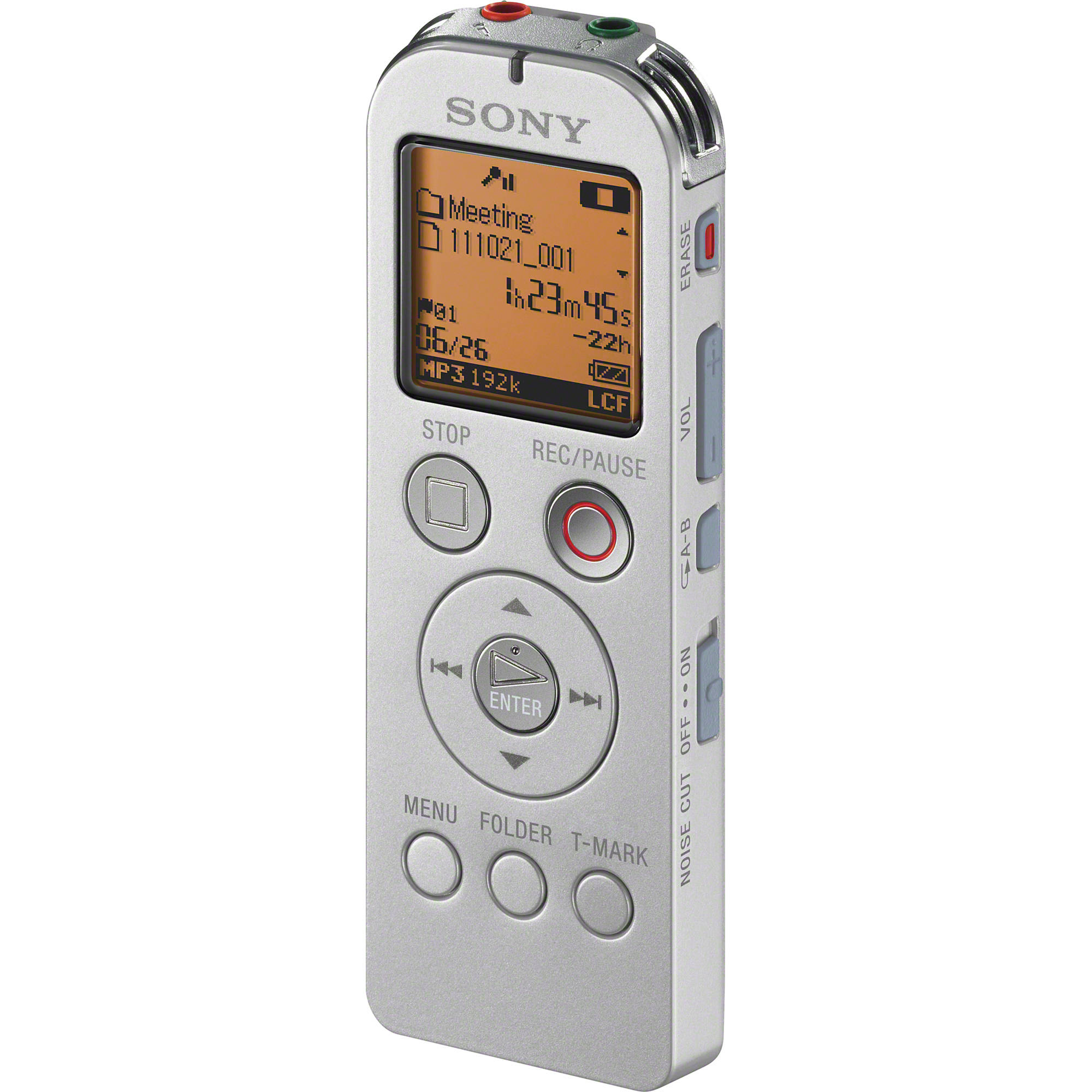 sony icd ux523 digital flash voice recorder silver icd ux523 rh bhphotovideo com sony digital hd video camera recorder manual sony icd-bx140 digital voice recorder manual