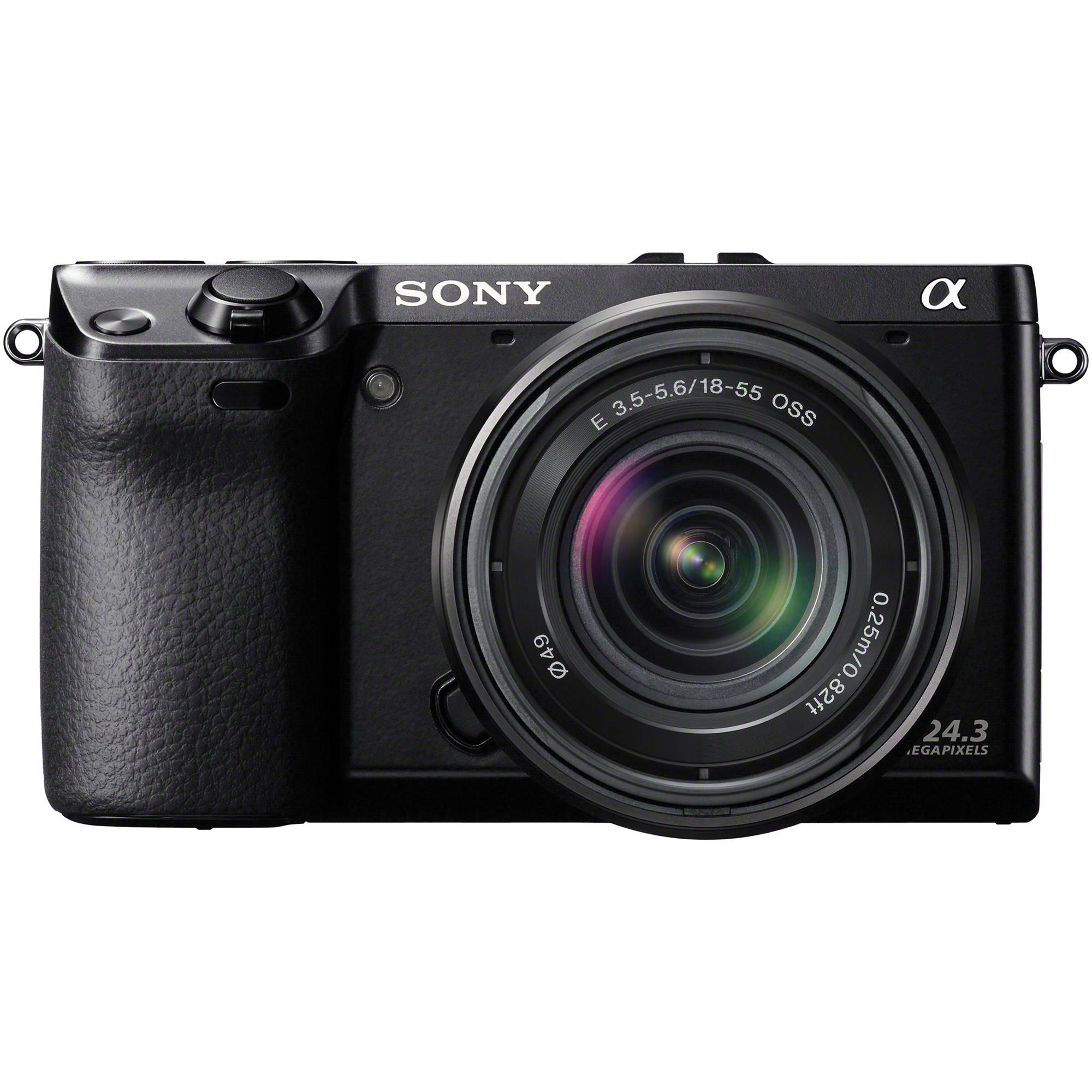 sony alpha nex 7 digital camera with 18 55mm lens black. Black Bedroom Furniture Sets. Home Design Ideas